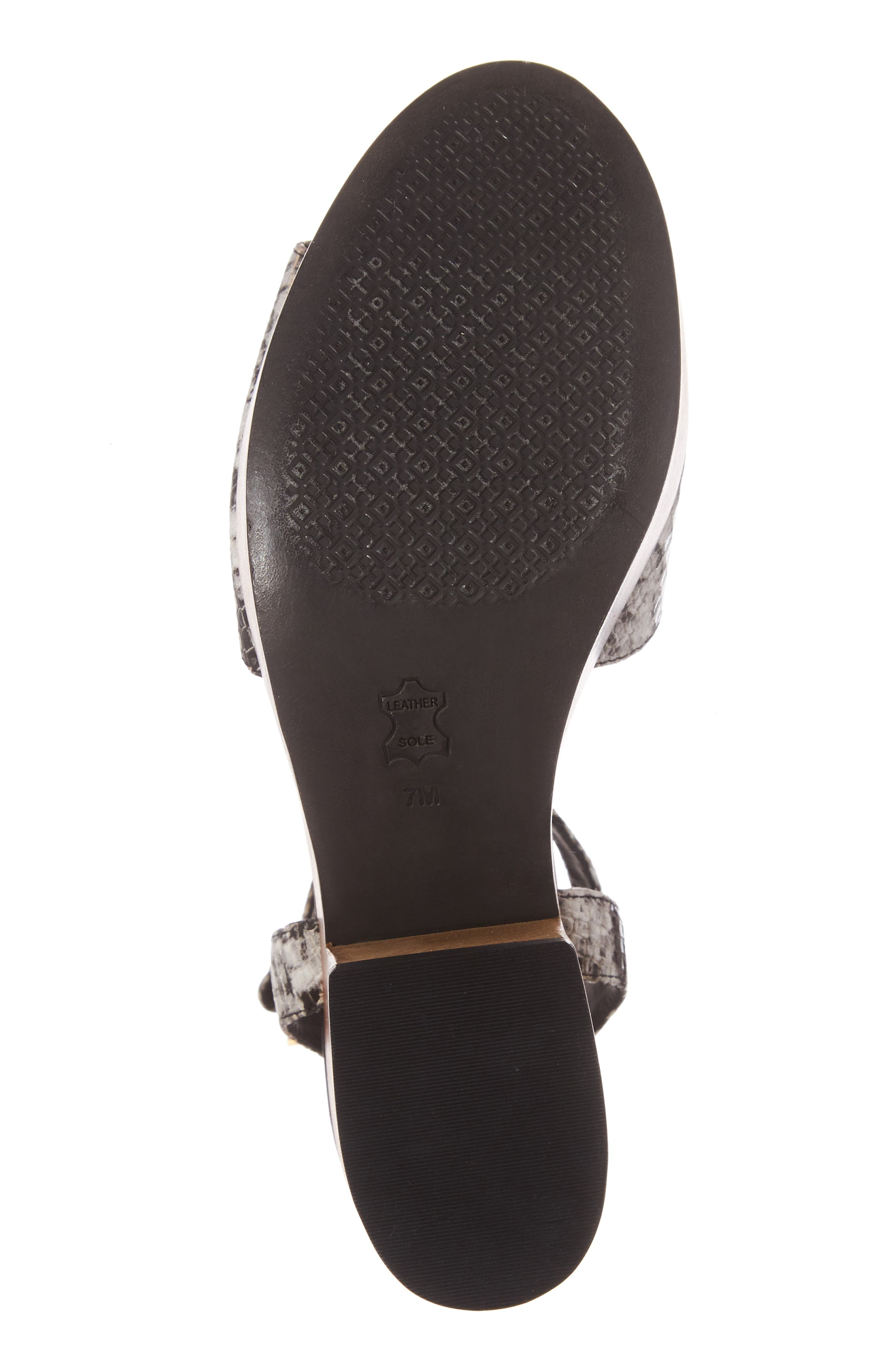 Camilla Platform Sandal,                             Alternate thumbnail 6, color,                             Roccia Black/ White