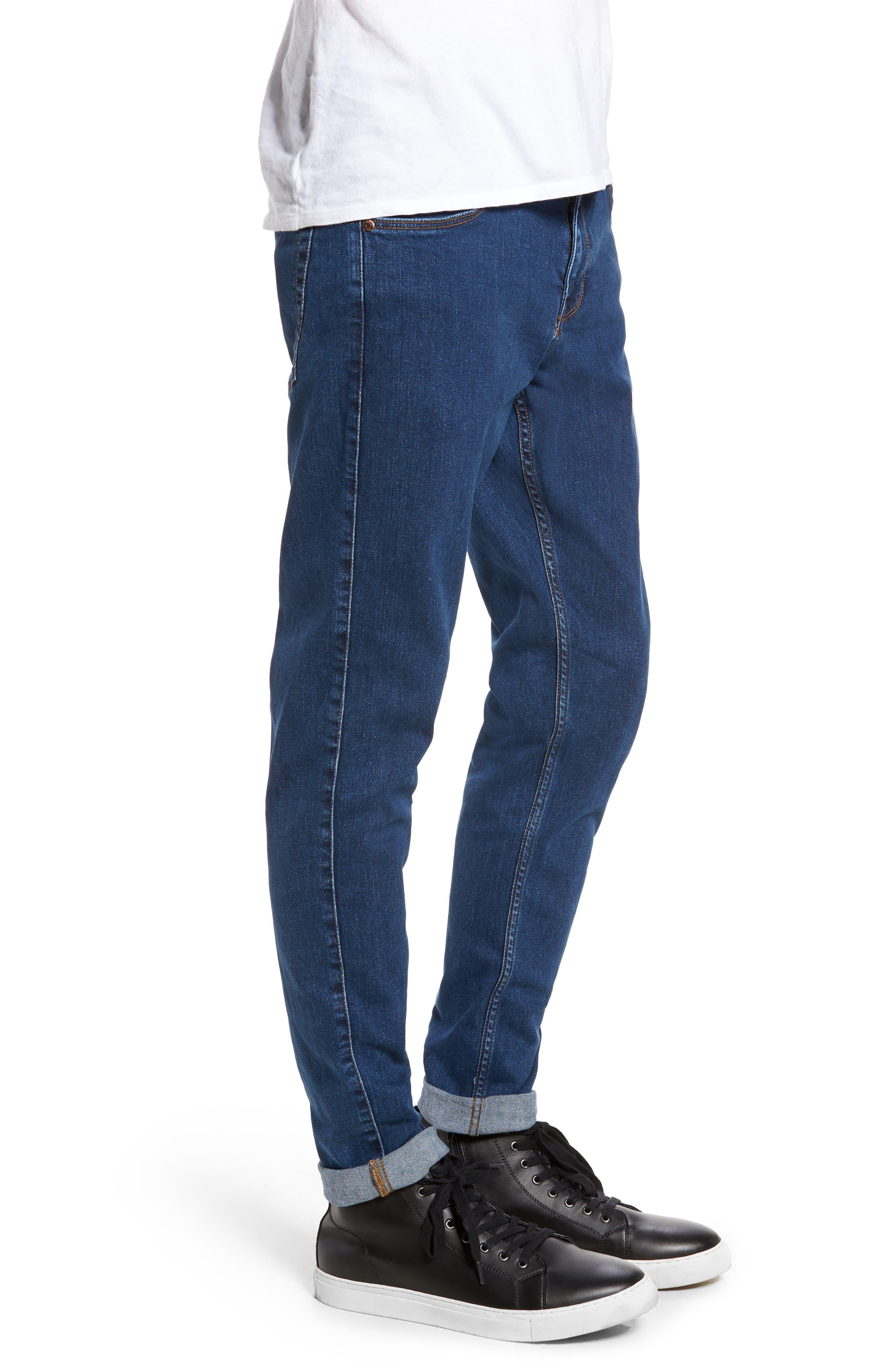 Clark Slim Straight Leg Jeans,                             Alternate thumbnail 3, color,                             Mid Retro