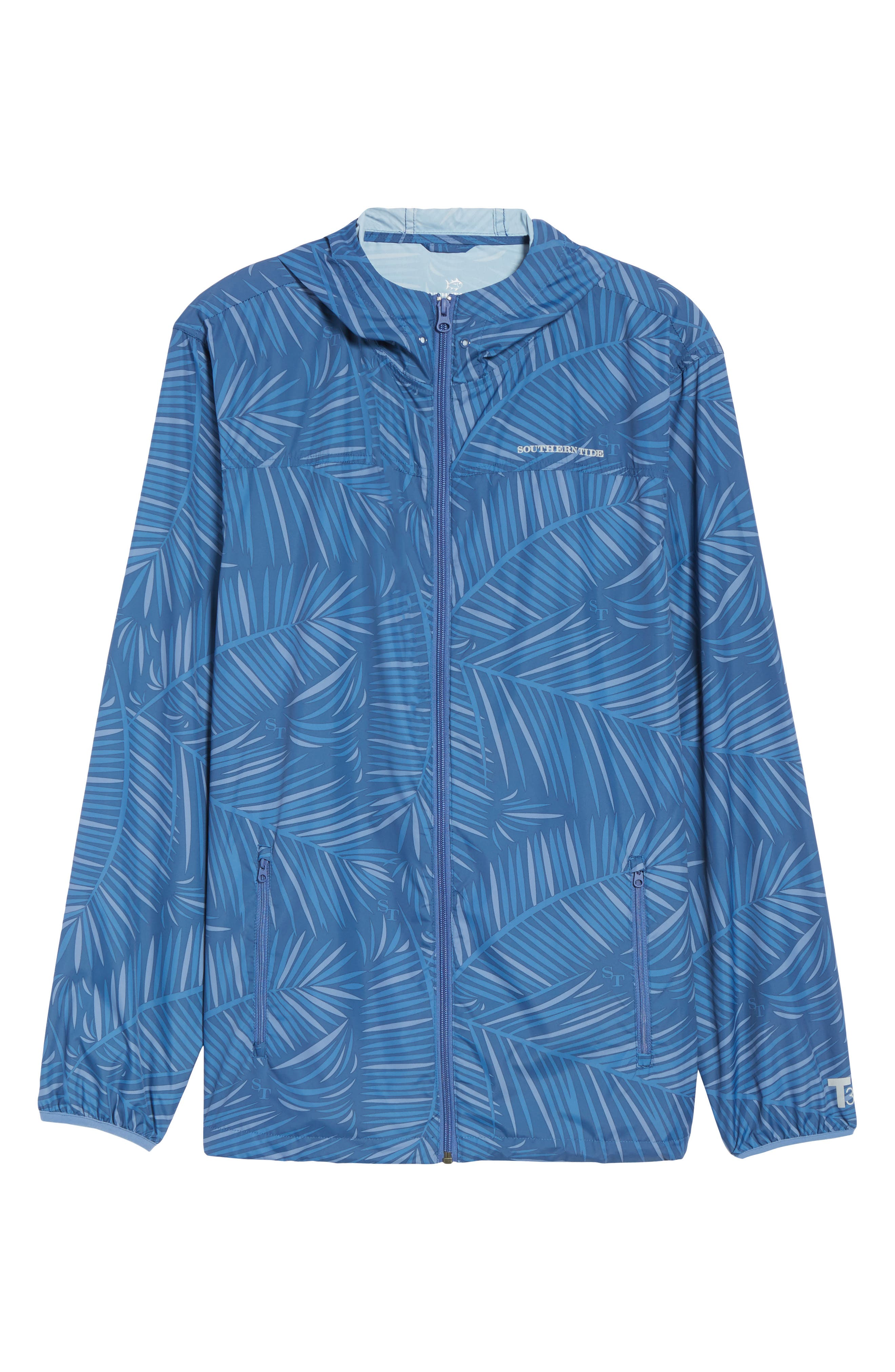 Pelican Peak Full Zip Hooded Jacket,                             Alternate thumbnail 6, color,                             Seven Seas Blue