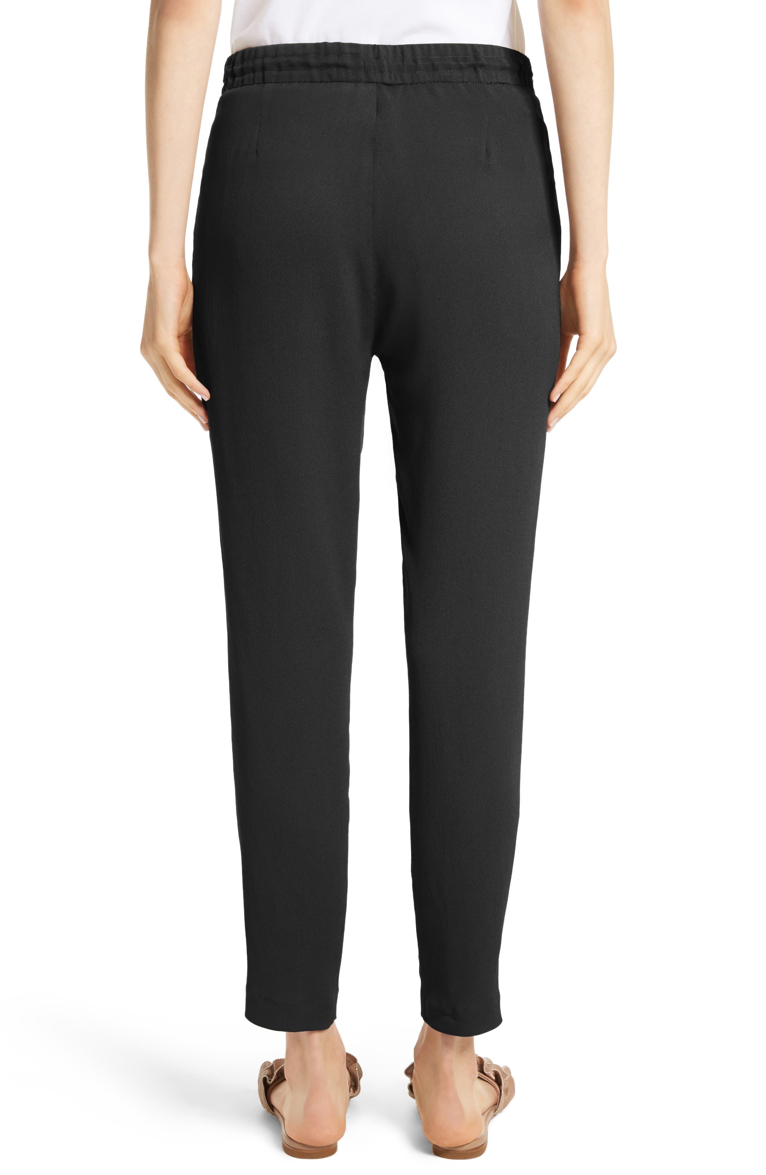 Crop Drawstring Pants,                             Alternate thumbnail 2, color,                             Black