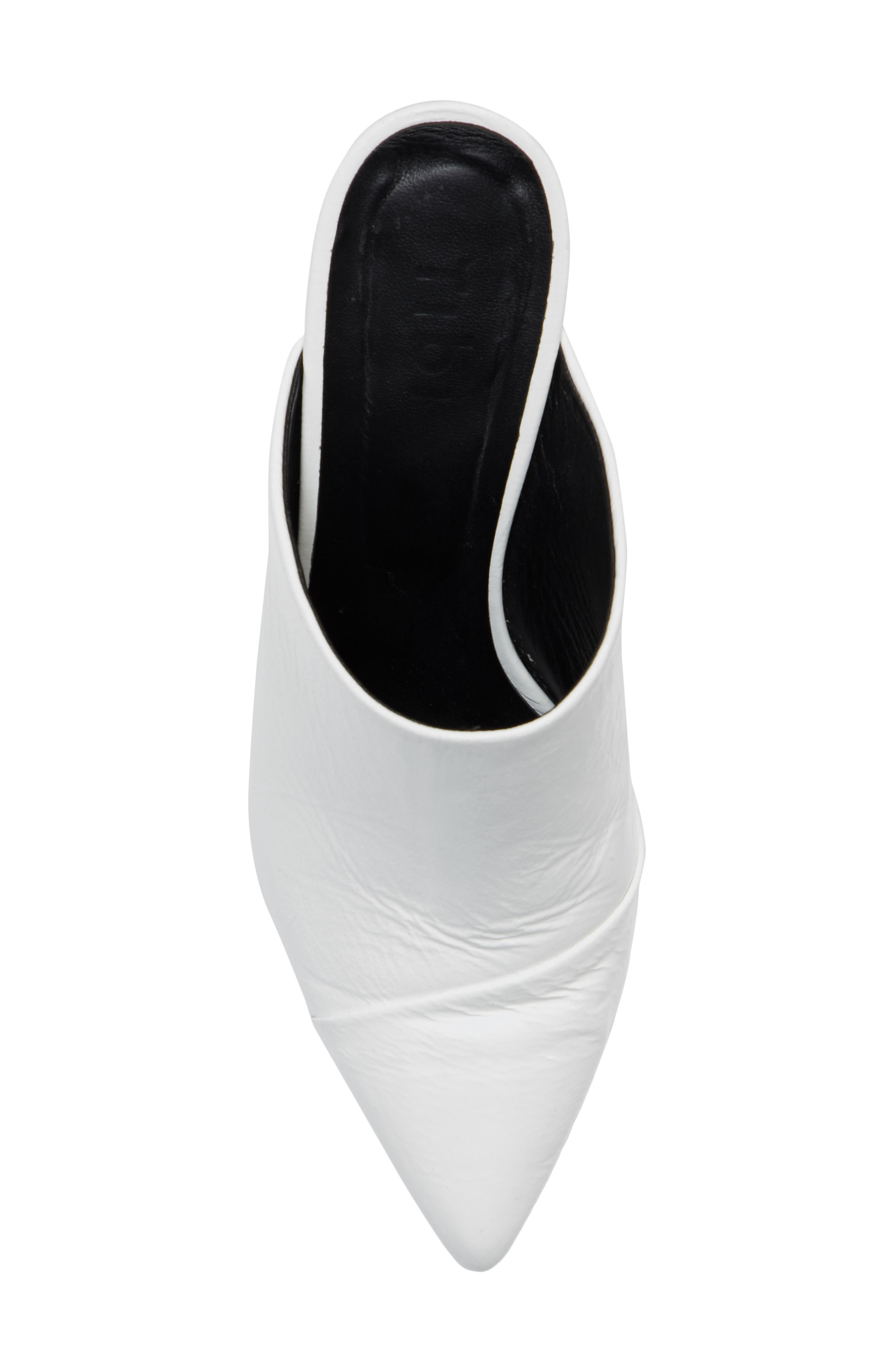 Liam Pointy Toe Mule,                             Alternate thumbnail 5, color,                             Bright White