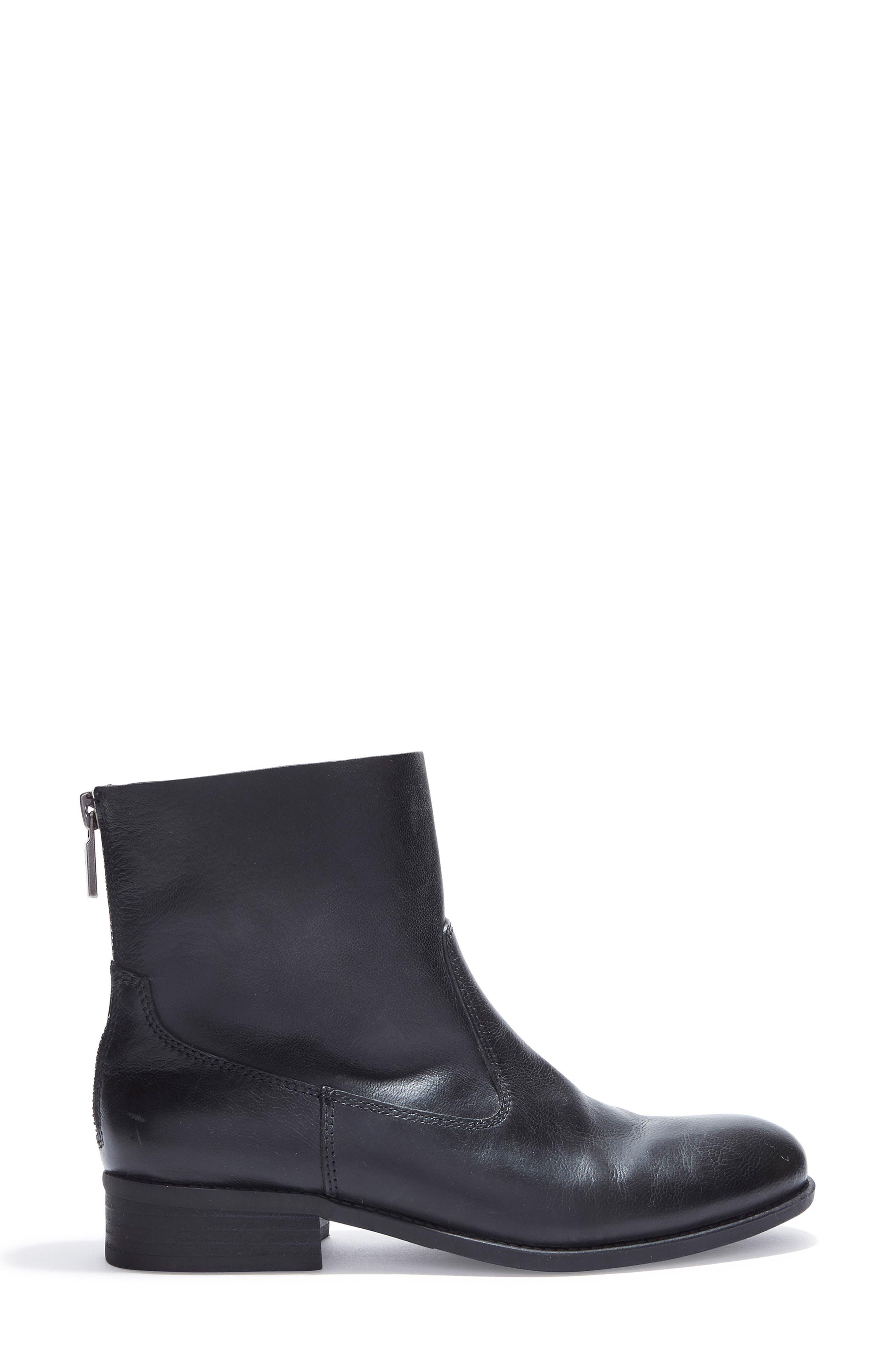 Logan Bootie,                             Alternate thumbnail 3, color,                             Black Leather