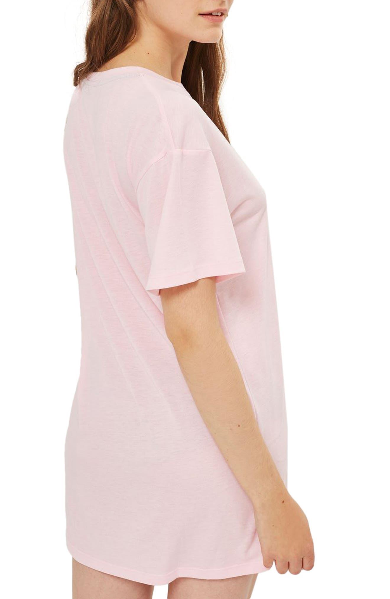 Dreamer Embroidered Sleep Shirt,                             Alternate thumbnail 2, color,                             Pink