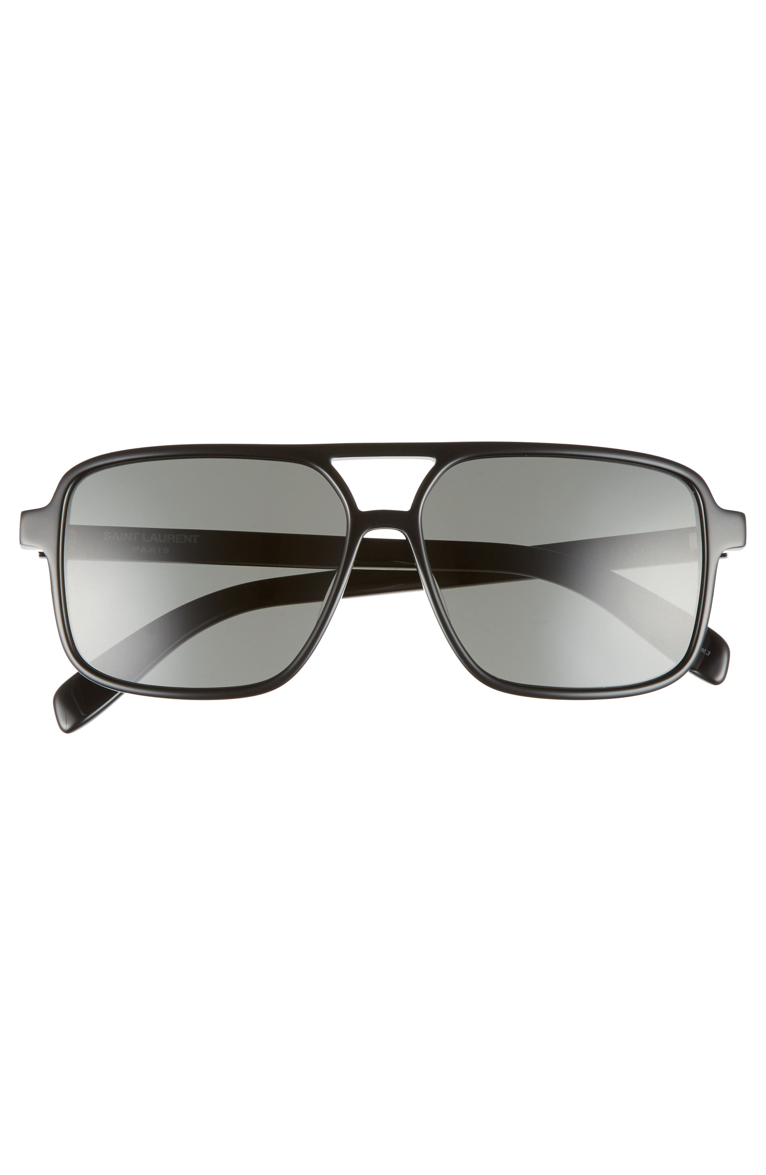 Alternate Image 3  - Saint Laurent 58mm Square Navigator Sunglasses