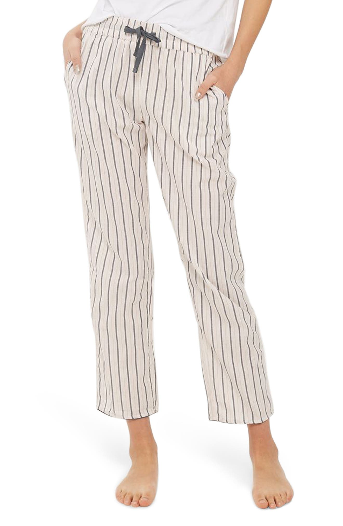 Main Image - Topshop Stripe Pajama Pants
