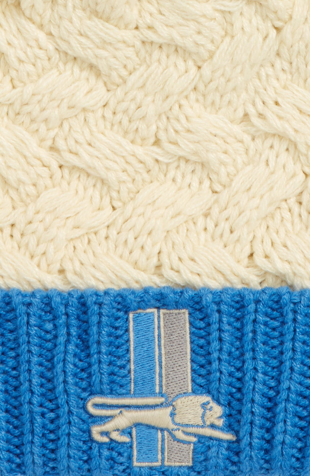 Matterhorn Detroit Lions Pom Beanie,                             Alternate thumbnail 2, color,                             Open White