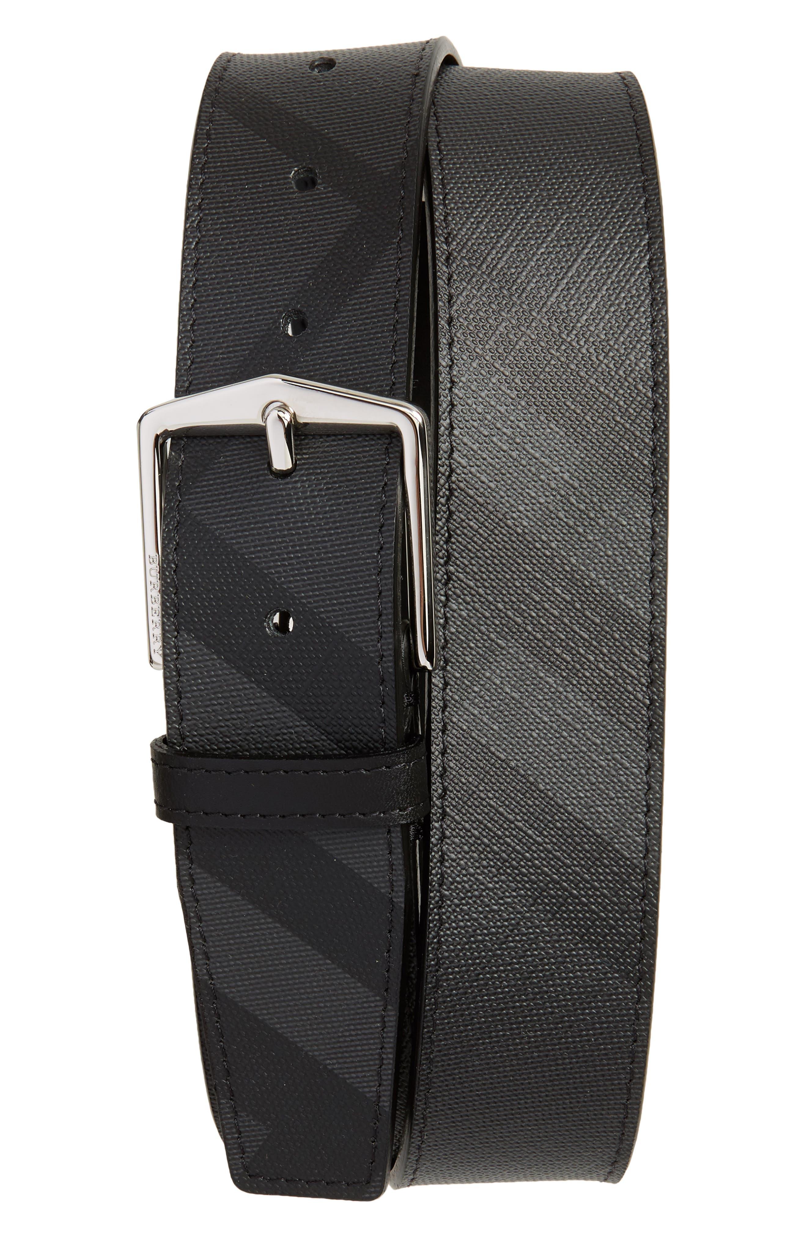London Check Belt,                         Main,                         color, Charcoal/ Black