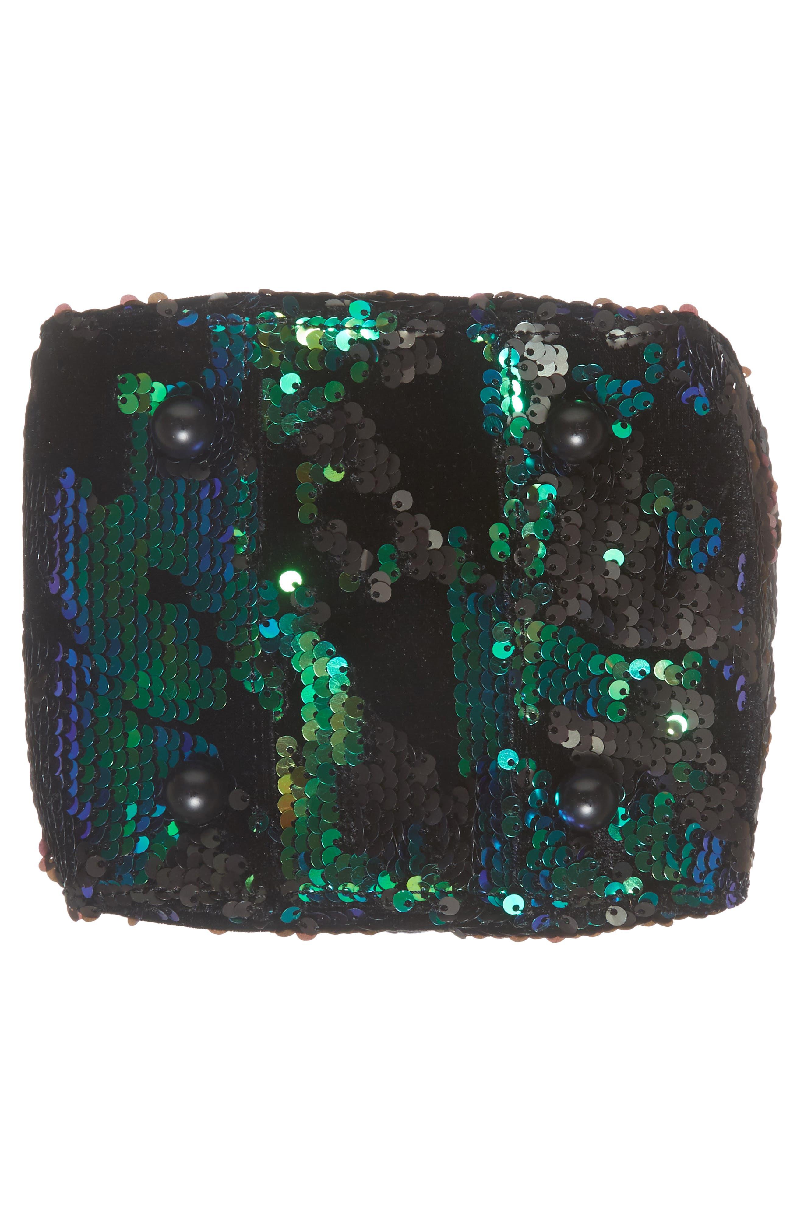 Amy Sequin Bucket Bag,                             Alternate thumbnail 6, color,                             Iridescent Sequins