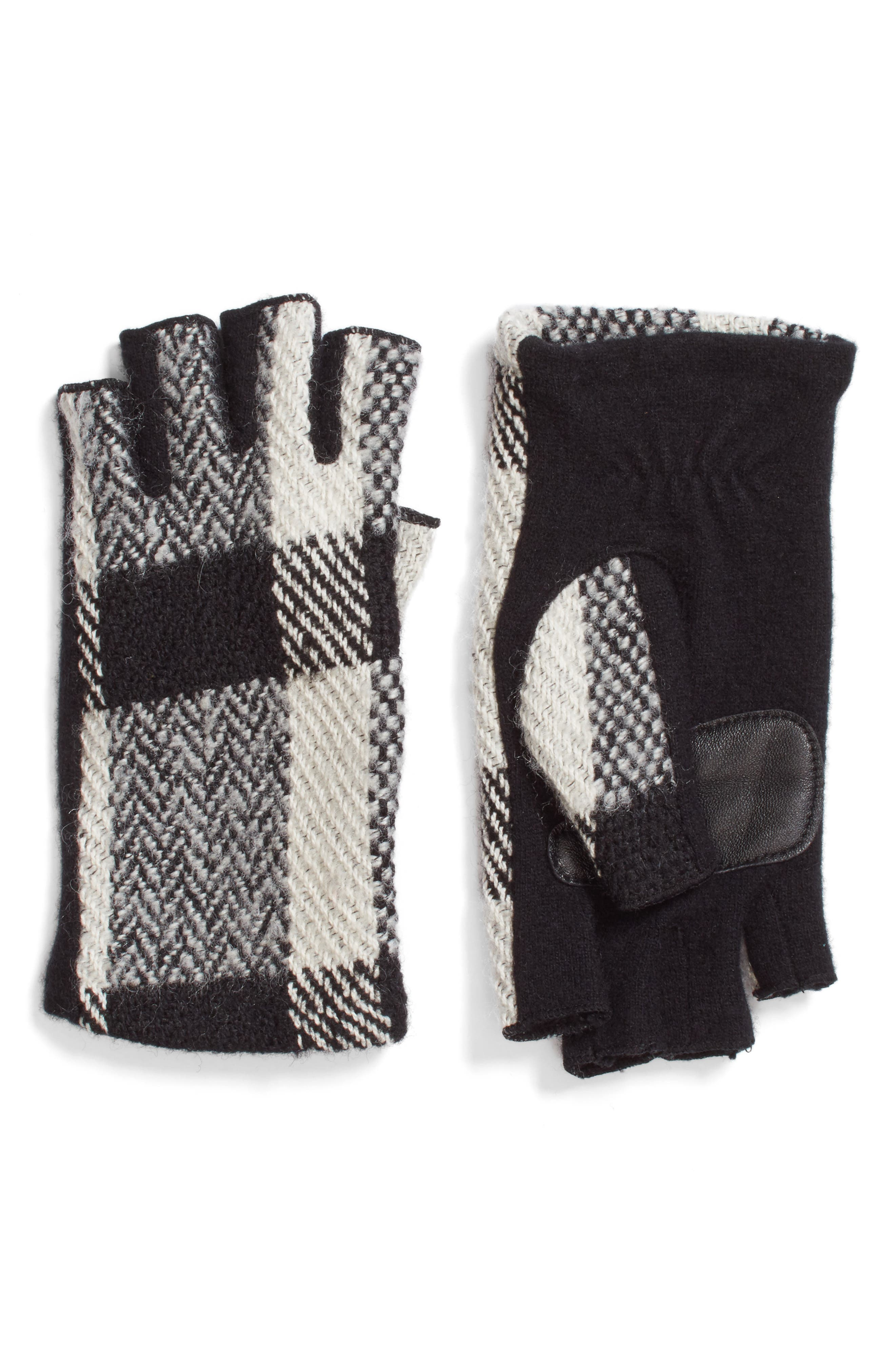 Echo Plaid Fingerless Gloves