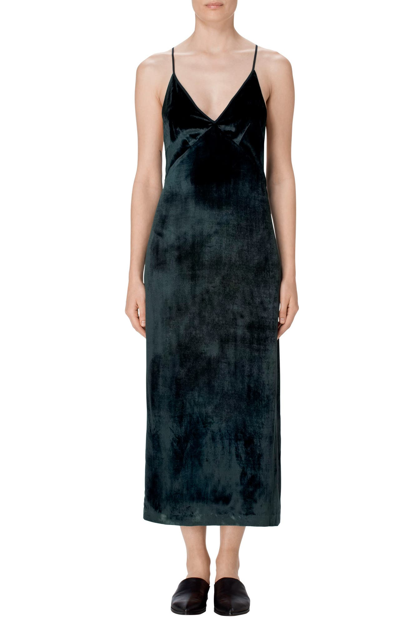 J Brand Blessing Velvet Slipdress