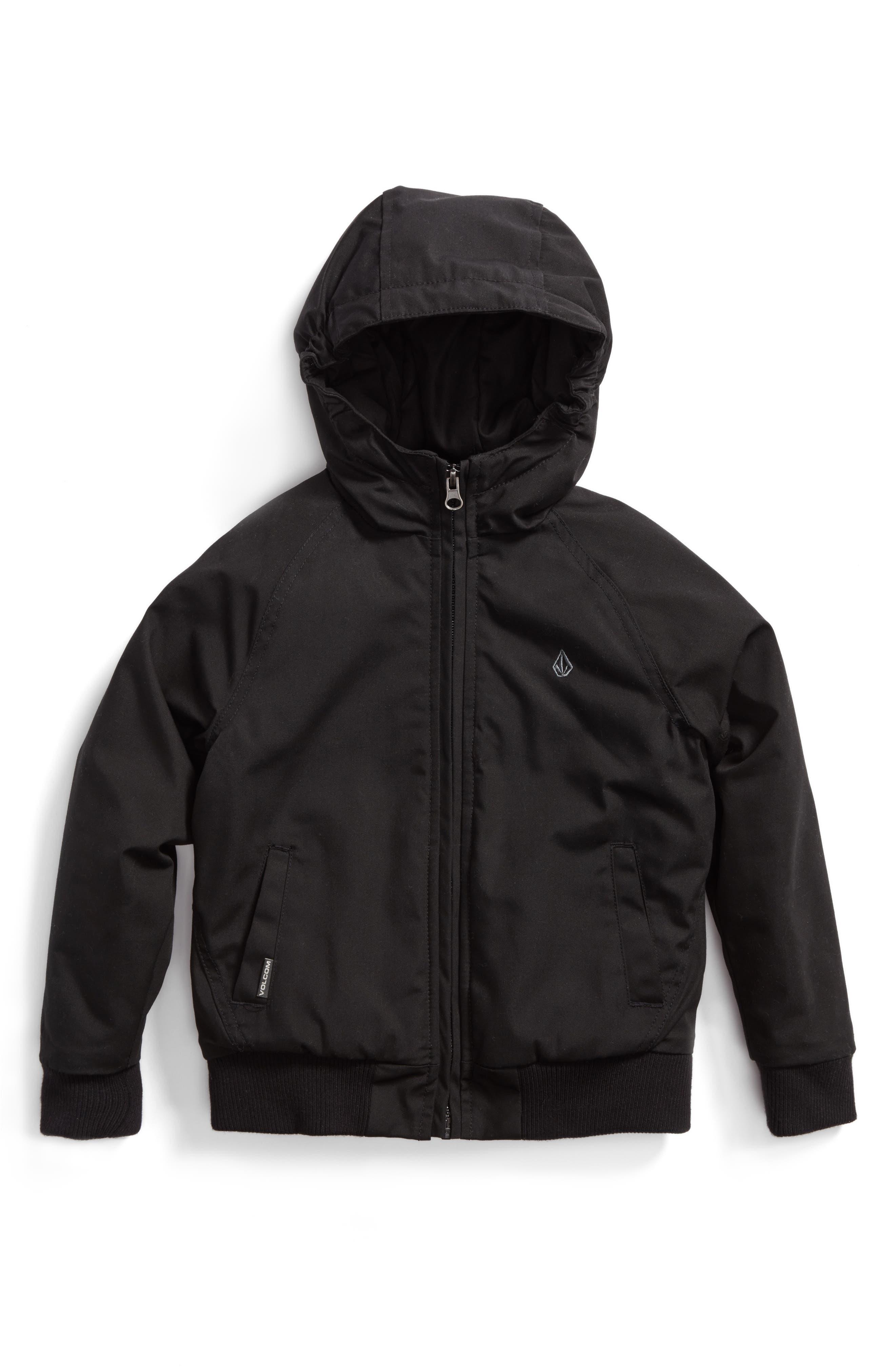 Hernan Heavyweight Hooded Jacket,                         Main,                         color, Black