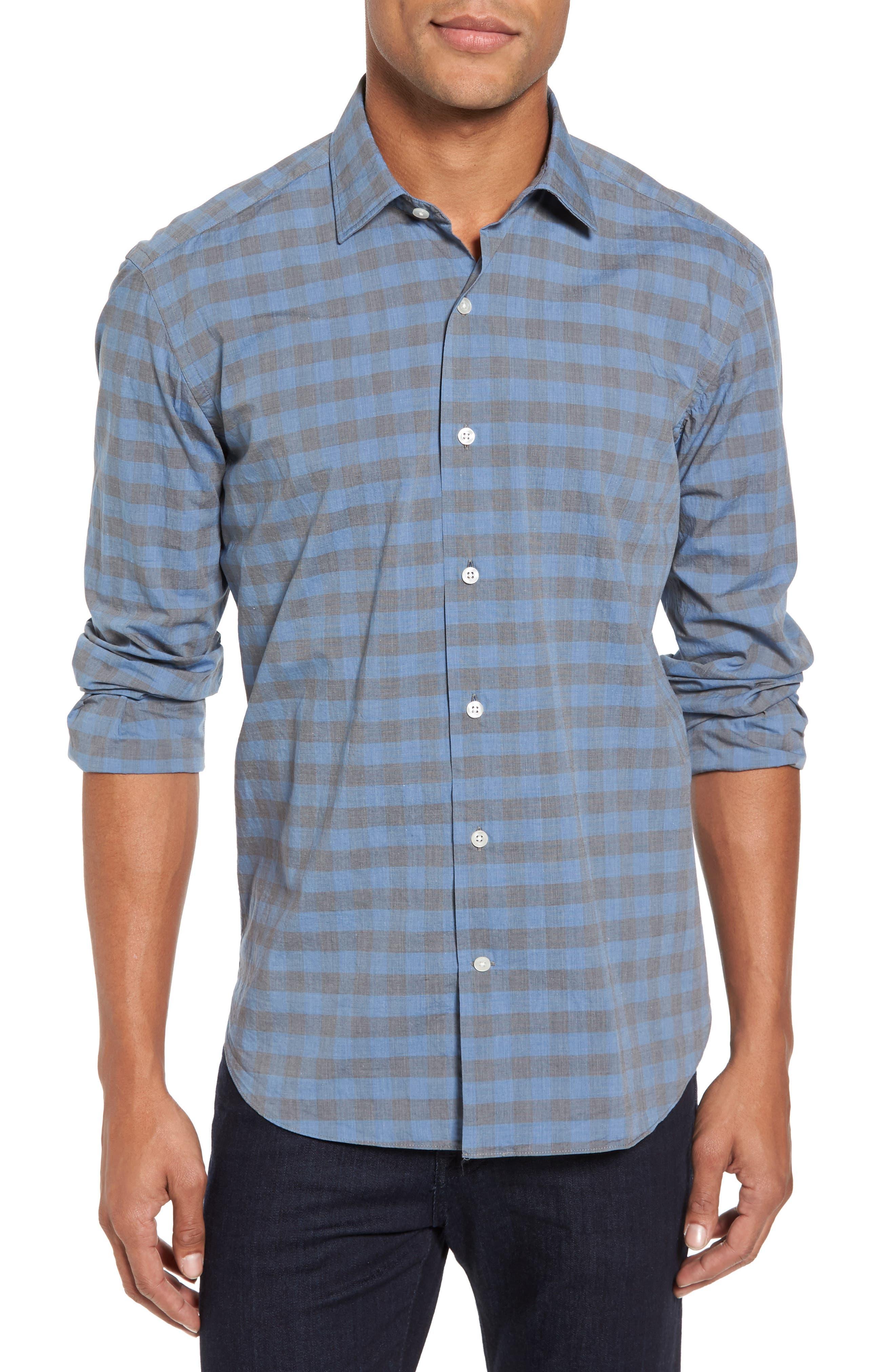 Main Image - Culturata Slim Fit Check Sport Shirt