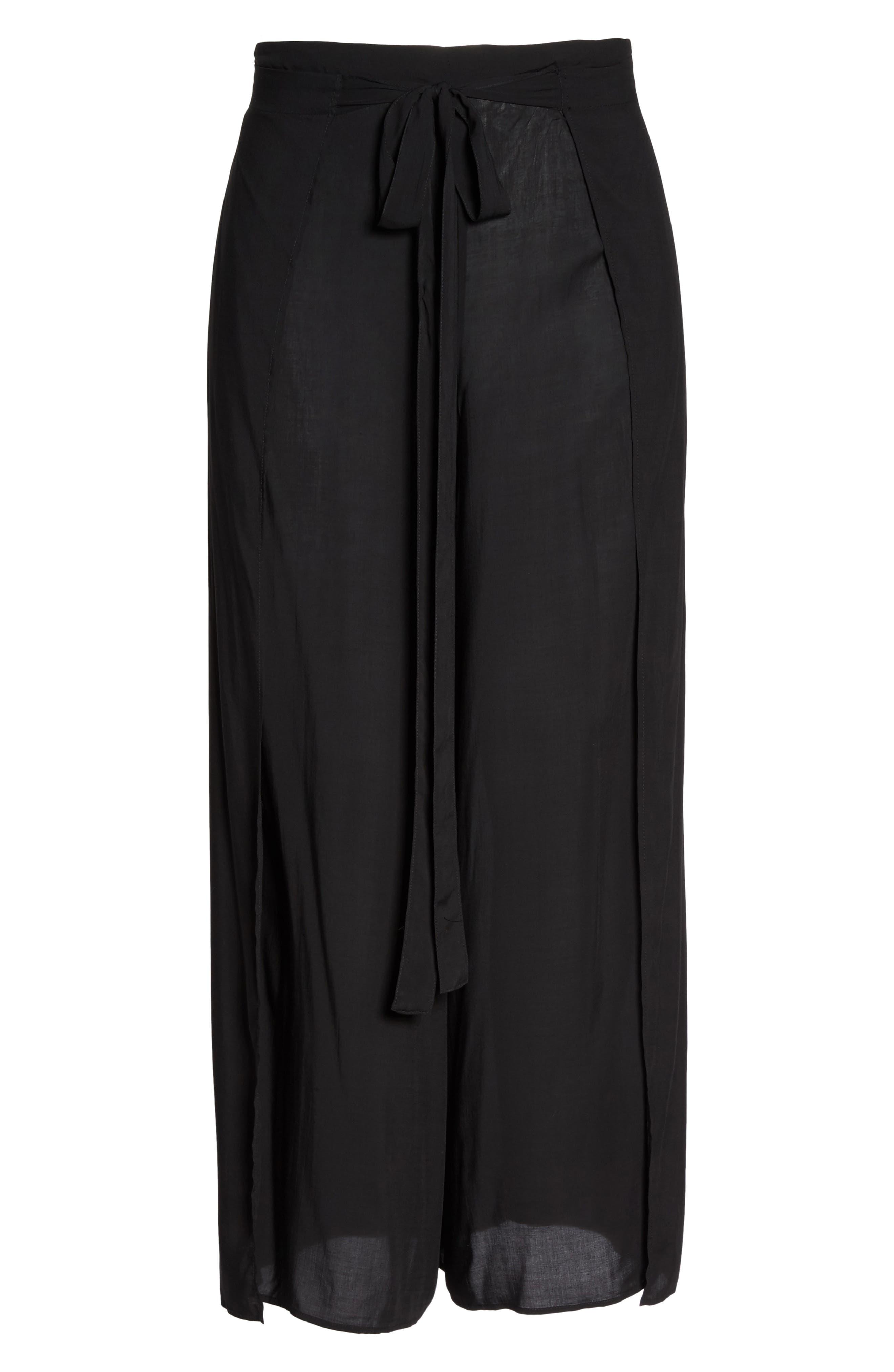 Alternate Image 6  - Elan Cover-Up Flyaway Pants (Plus Size)