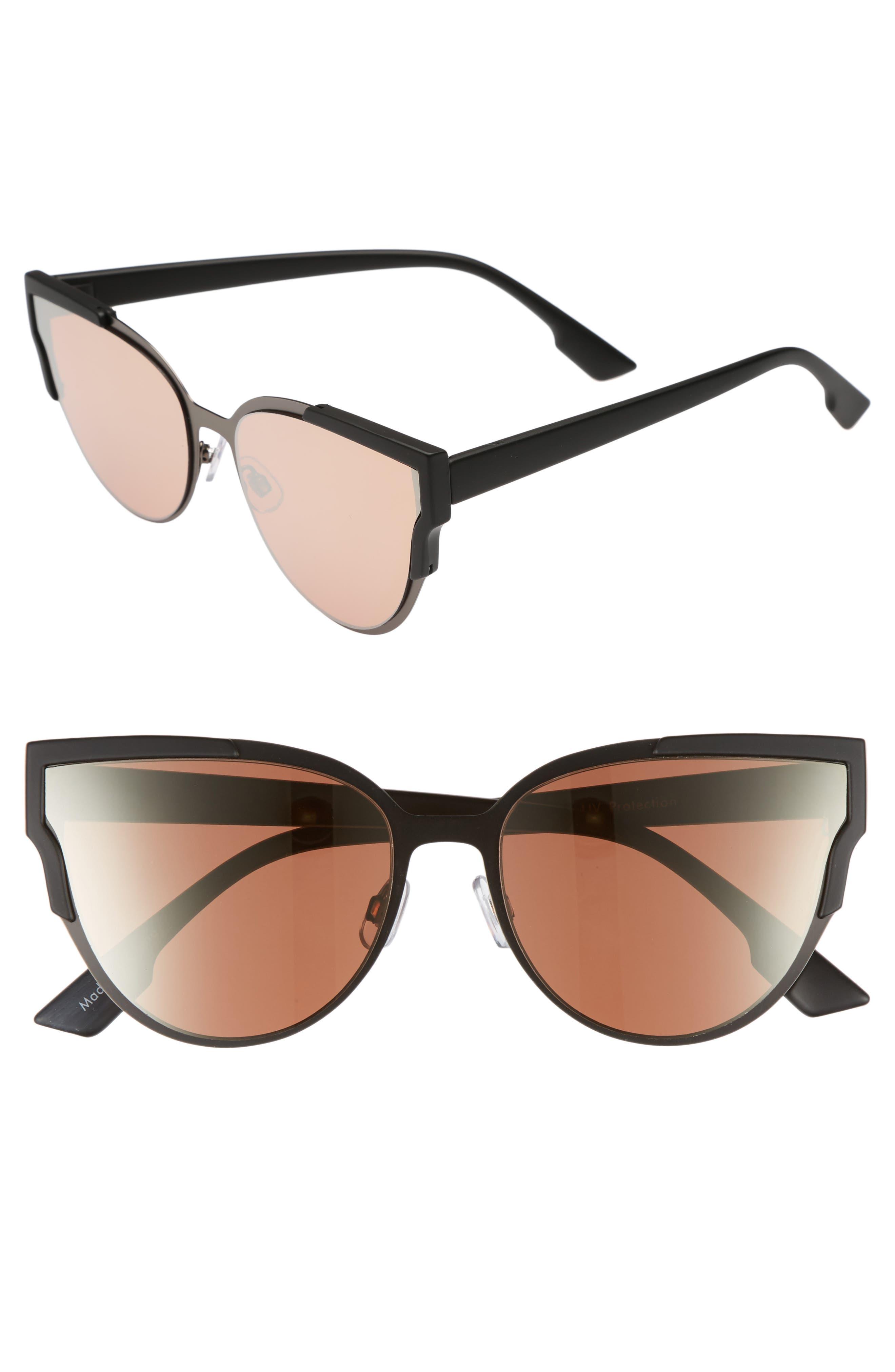 59mm Cat Eye Sunglasses,                         Main,                         color, Black