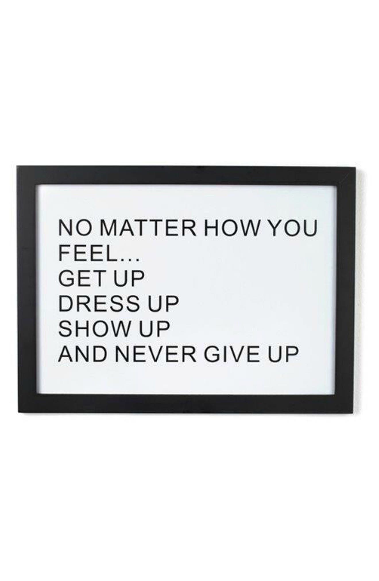 Get Up Wall Art,                         Main,                         color, White