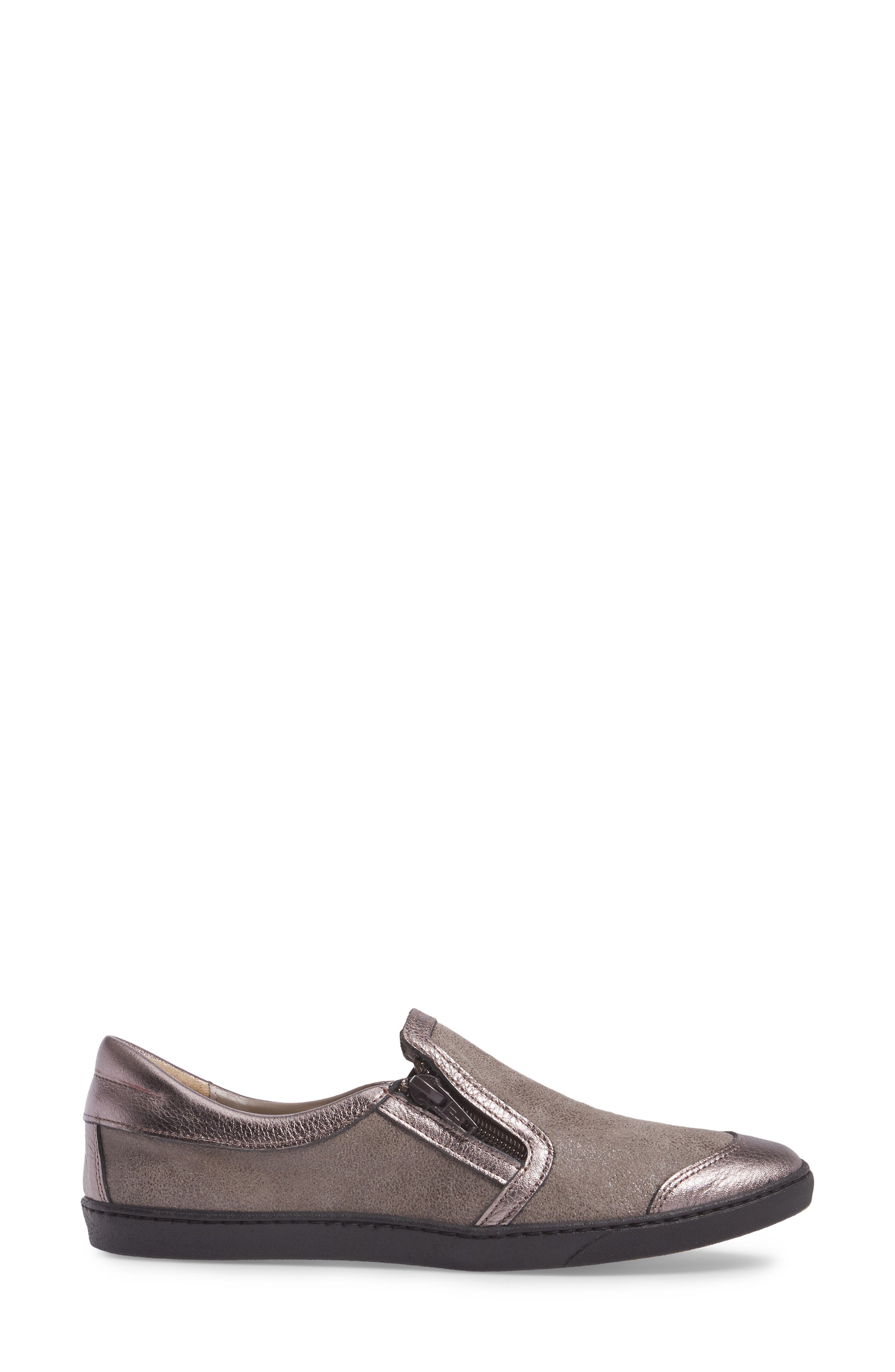 Fiorin Slip-On Sneaker,                             Alternate thumbnail 3, color,                             Taupe Fabric