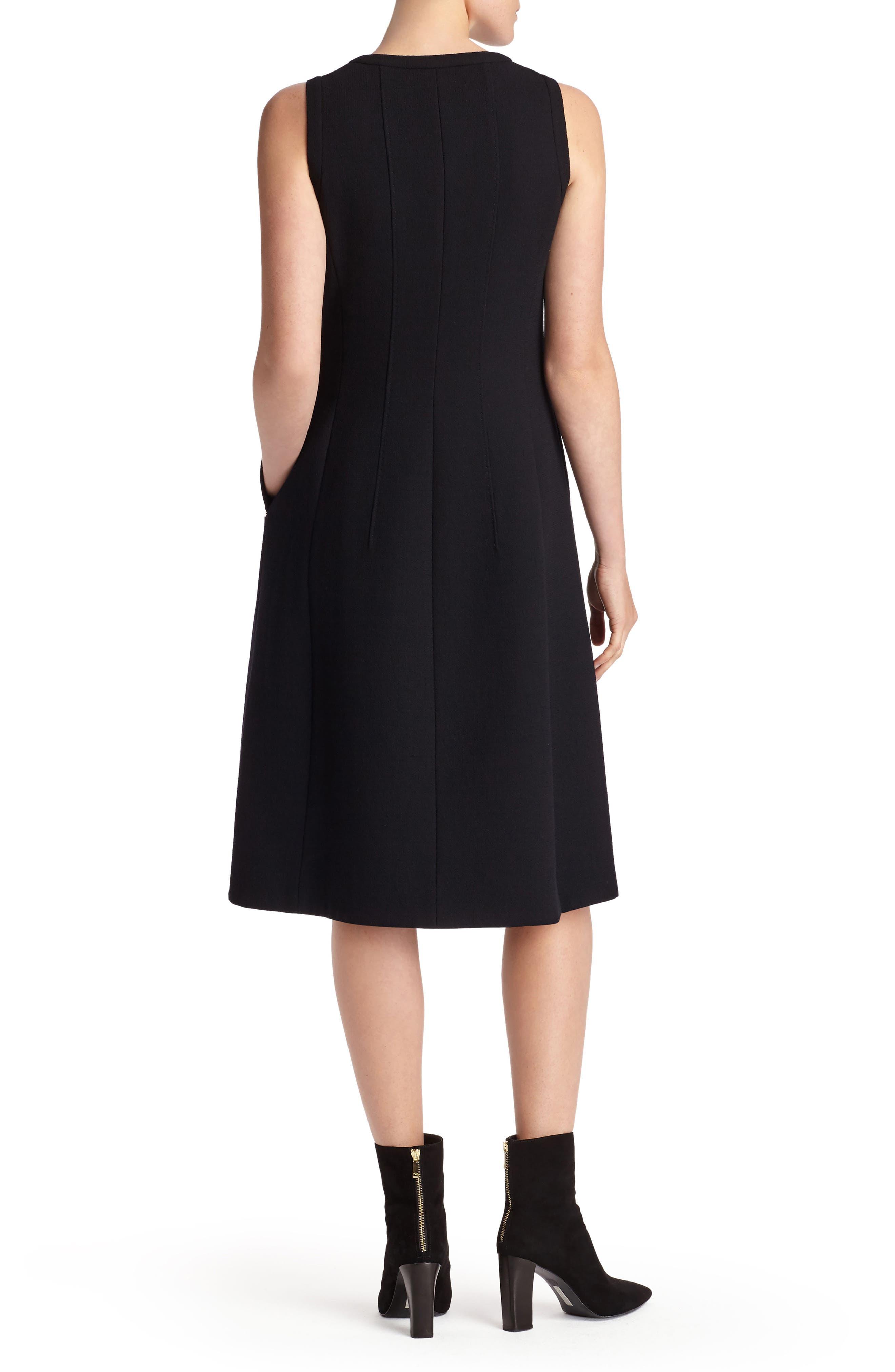 Celinda Nouveau Crepe Dress,                             Alternate thumbnail 2, color,                             Black