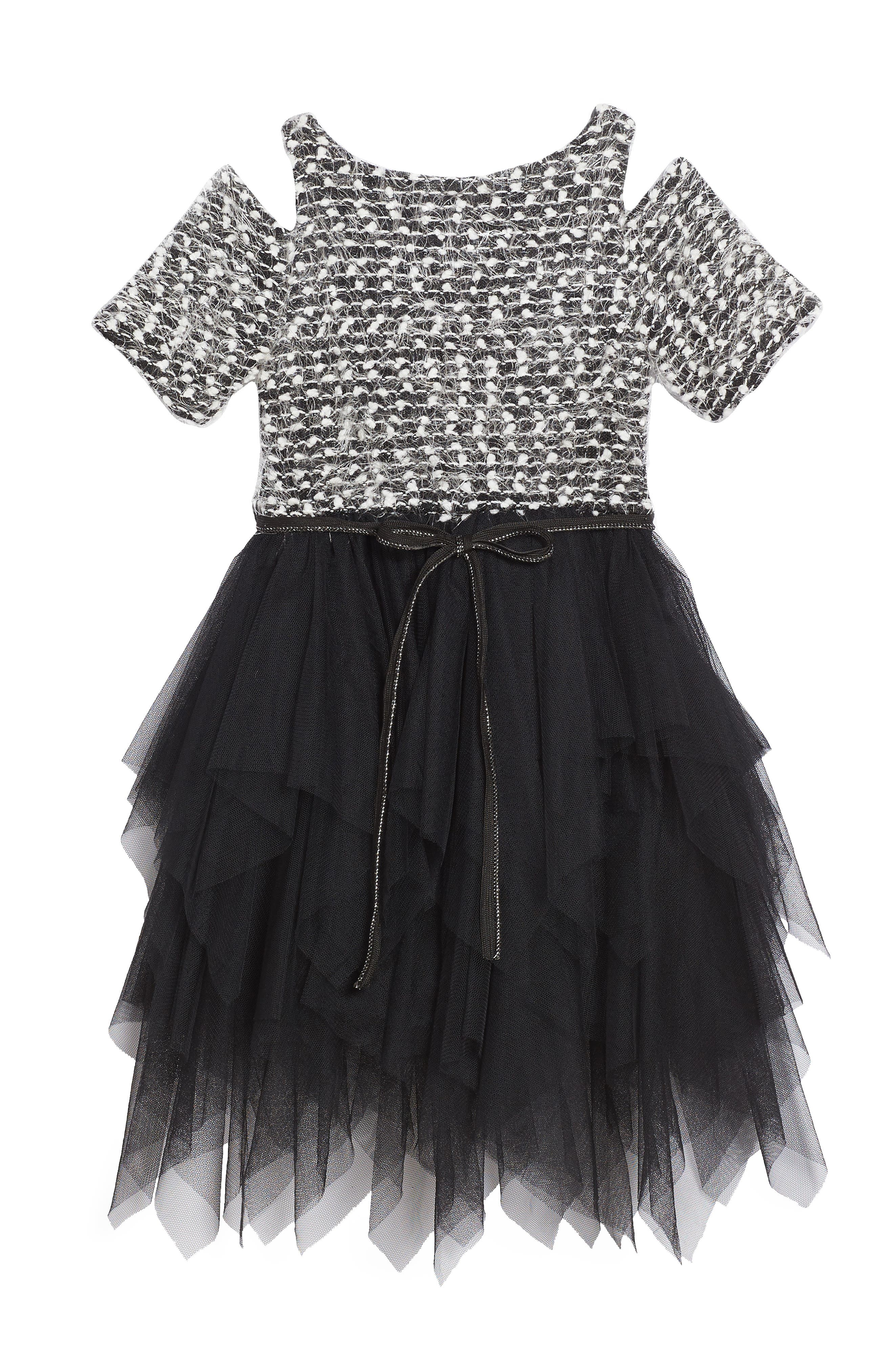 Alternate Image 2  - Ava & Yelly Sweater Tutu Dress (Toddler Girls & Little Girls)