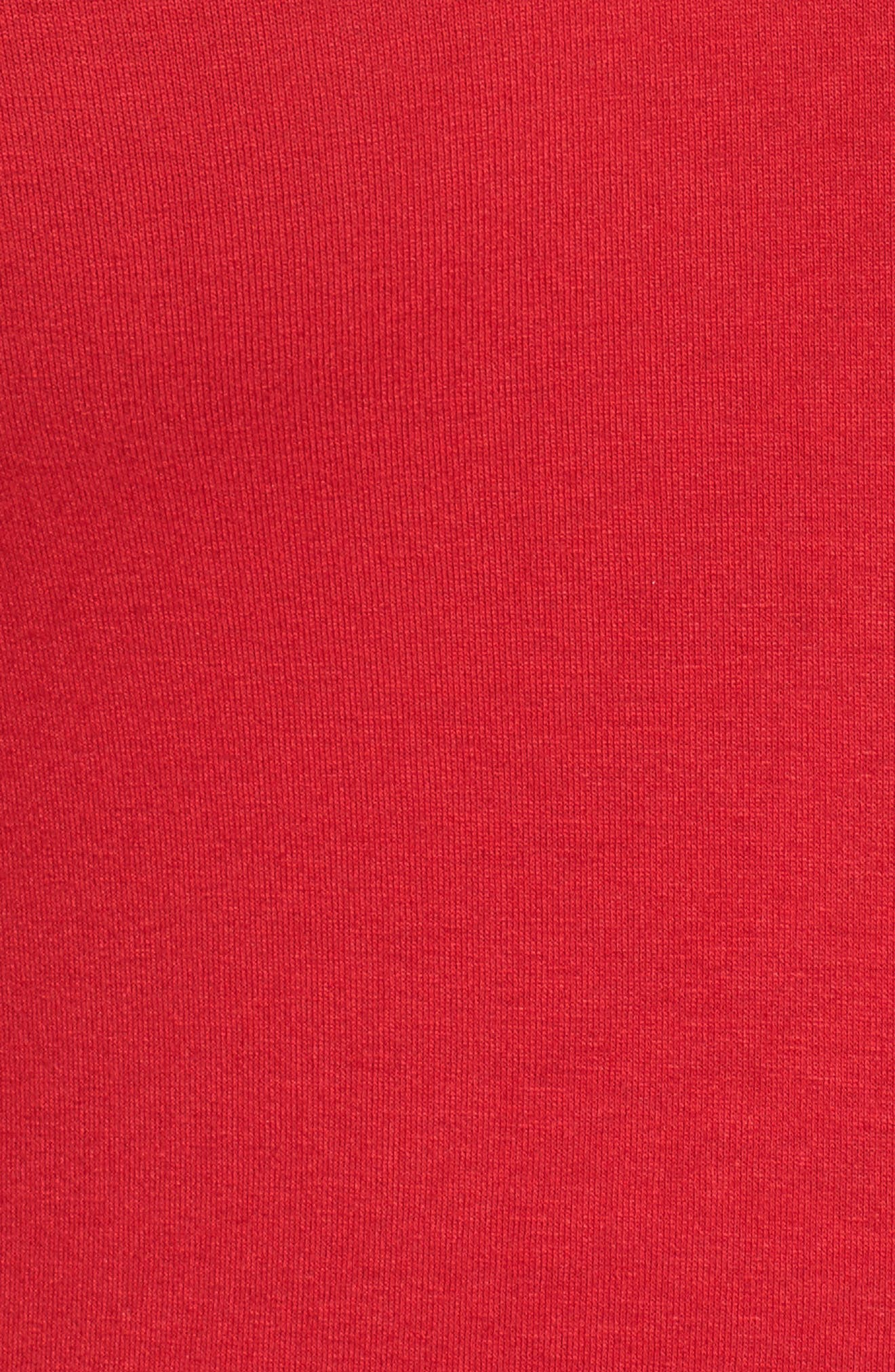 Ruched Bell Sleeve Chiffon Blouse,                             Alternate thumbnail 5, color,                             True Crimson