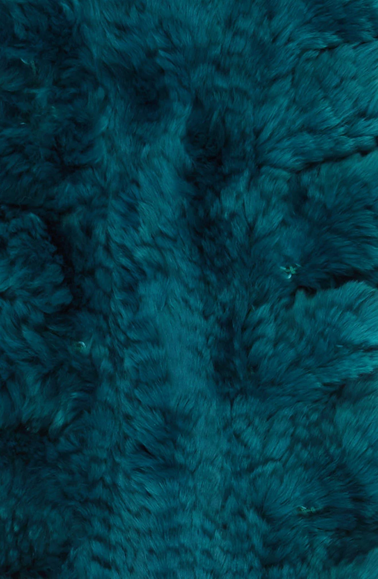 Alternate Image 3  - Toria Rose Genuine Rabbit Fur Scarf