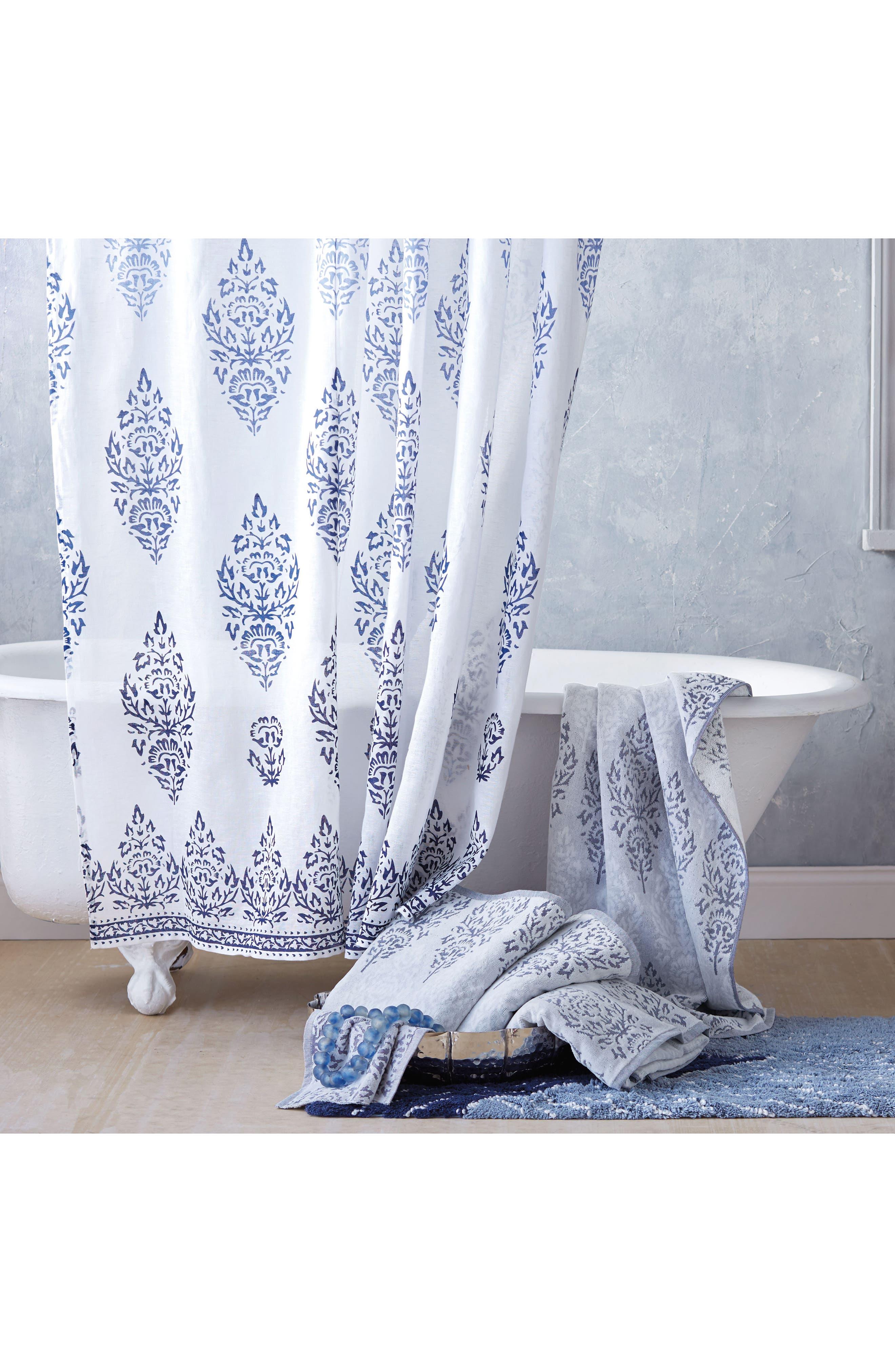 Jalati Hand Towel,                             Alternate thumbnail 3, color,                             Indigo