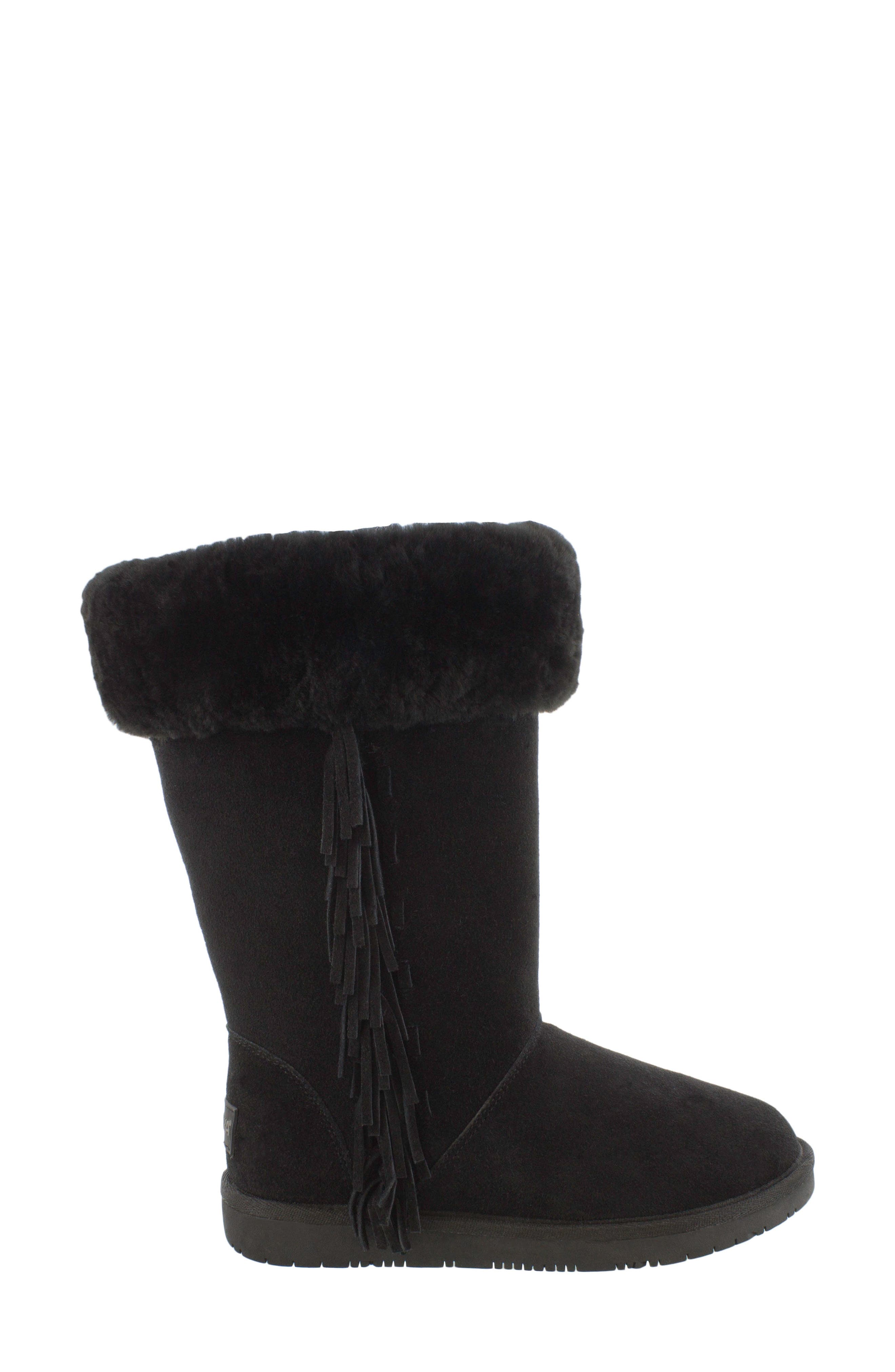 Canyon Genuine Shearling Trim Boot,                             Alternate thumbnail 2, color,                             Black