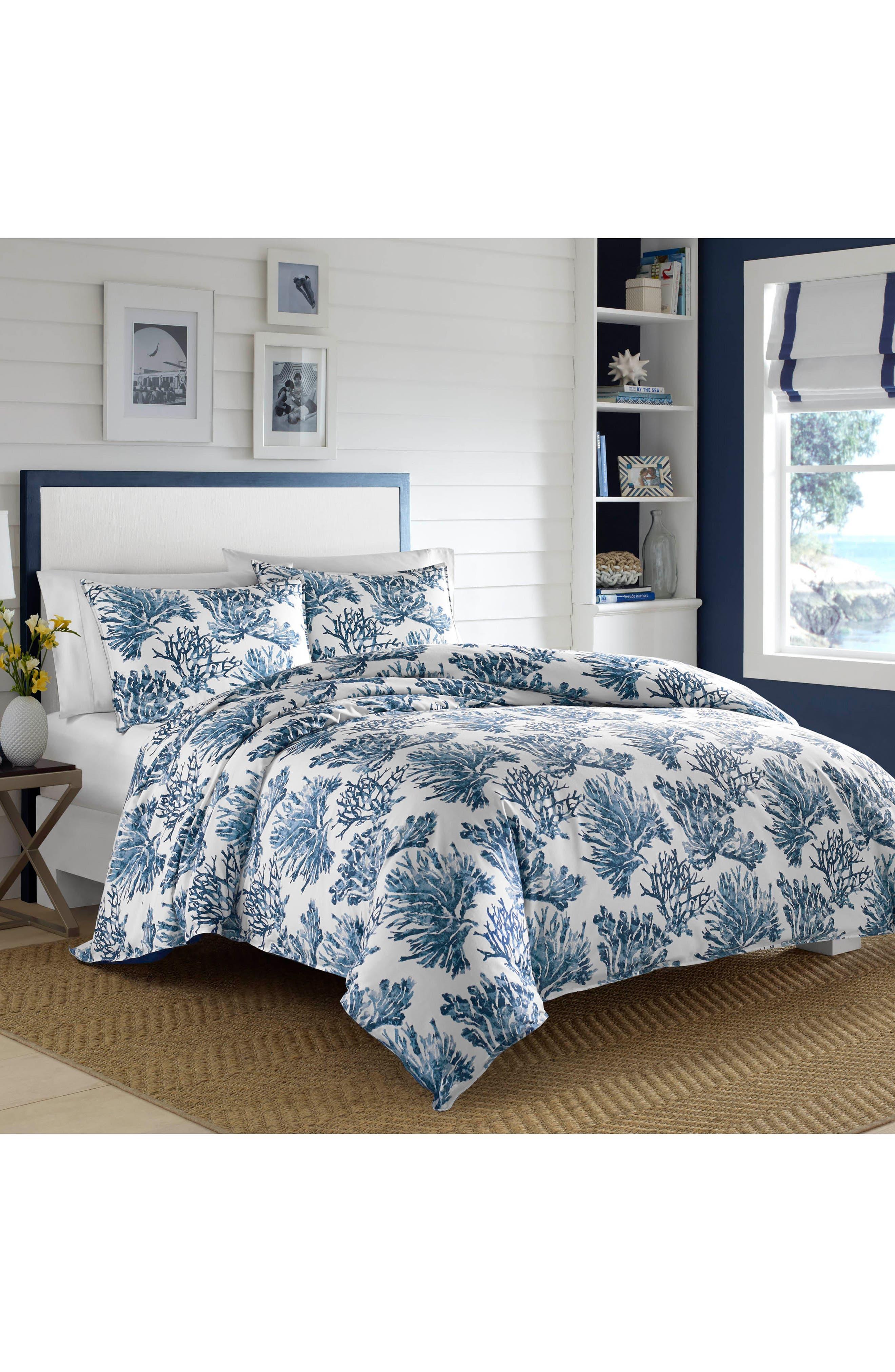 Cape Coral Comforter & Sham Set,                             Main thumbnail 1, color,                             Dark Blue