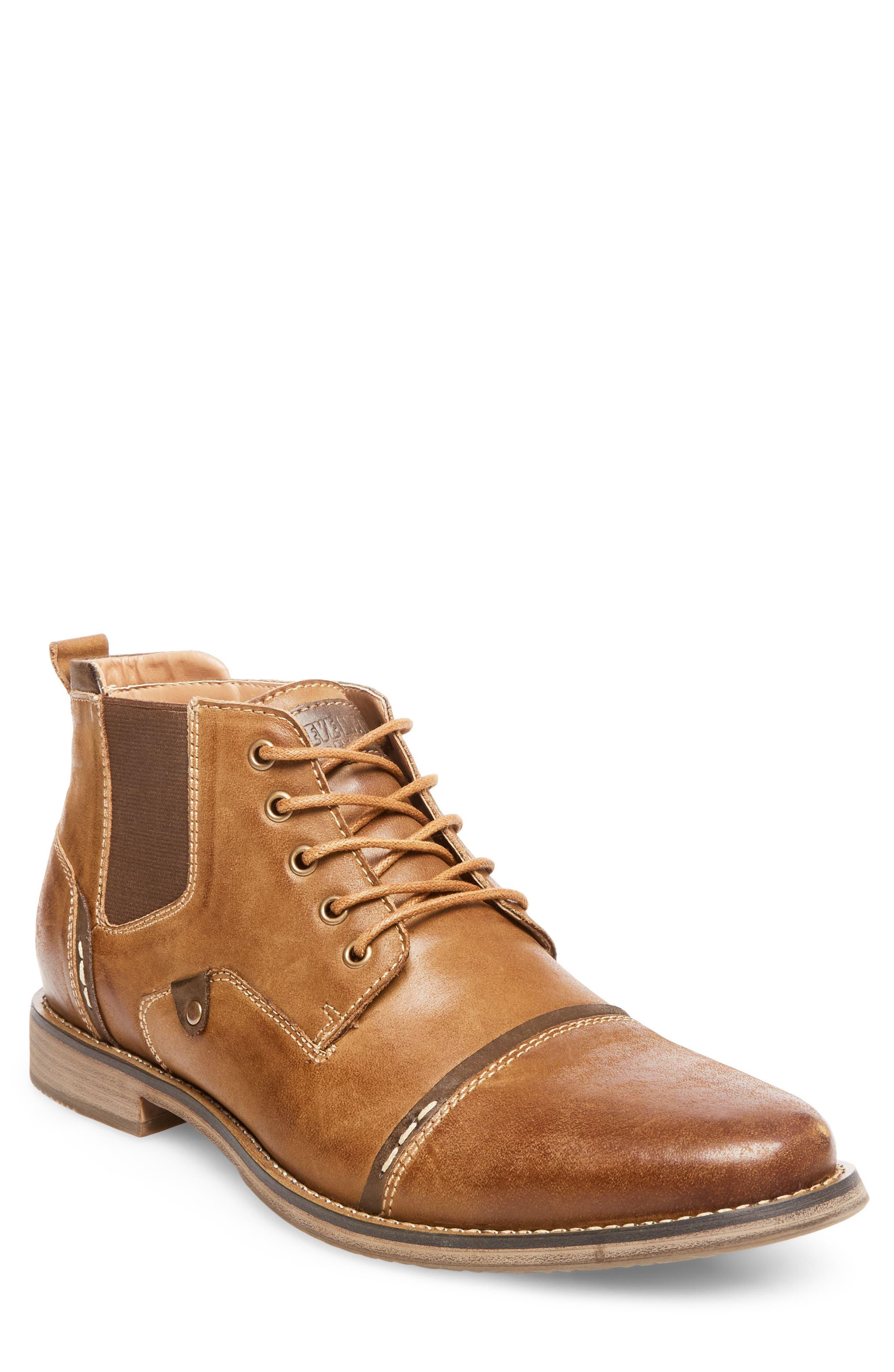 Steve Madden Proxy Cap Toe Boot (Men)