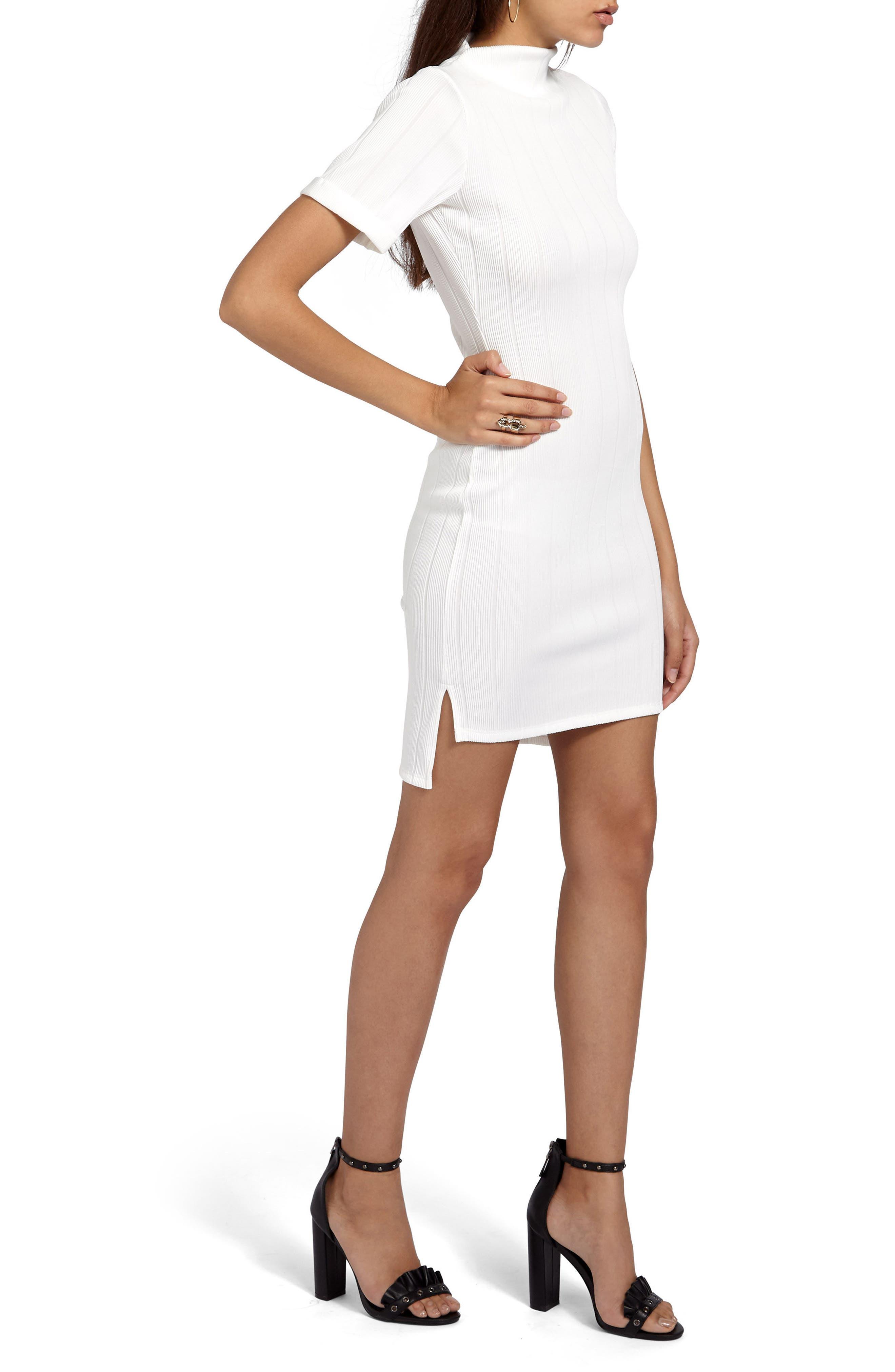 Alternate Image 3  - Missguided Mock Neck Sheath Dress