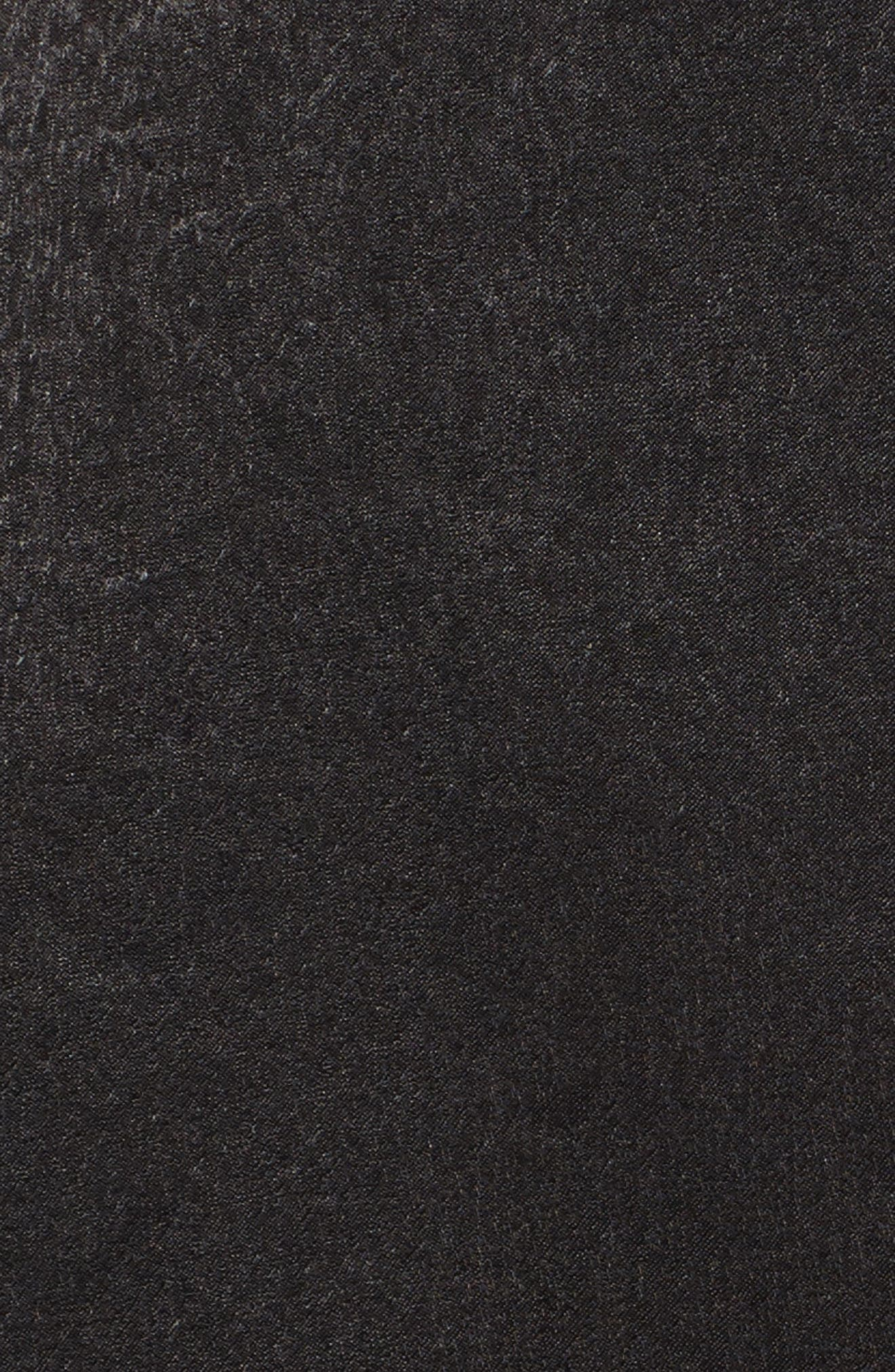 Satin Faux Wrap Dress,                             Alternate thumbnail 5, color,                             Black
