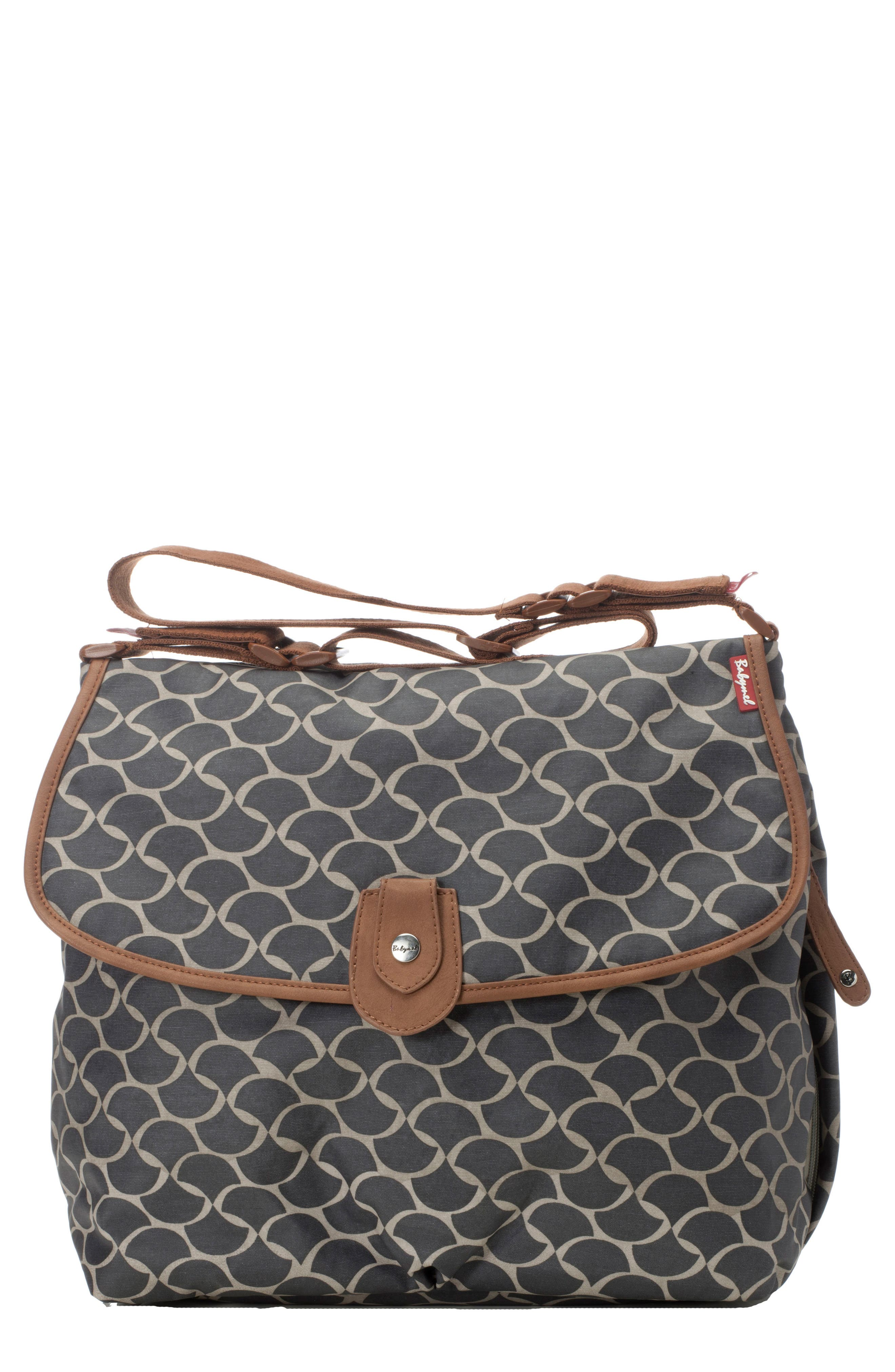 Wave Diaper Satchel,                         Main,                         color, Elephant Grey