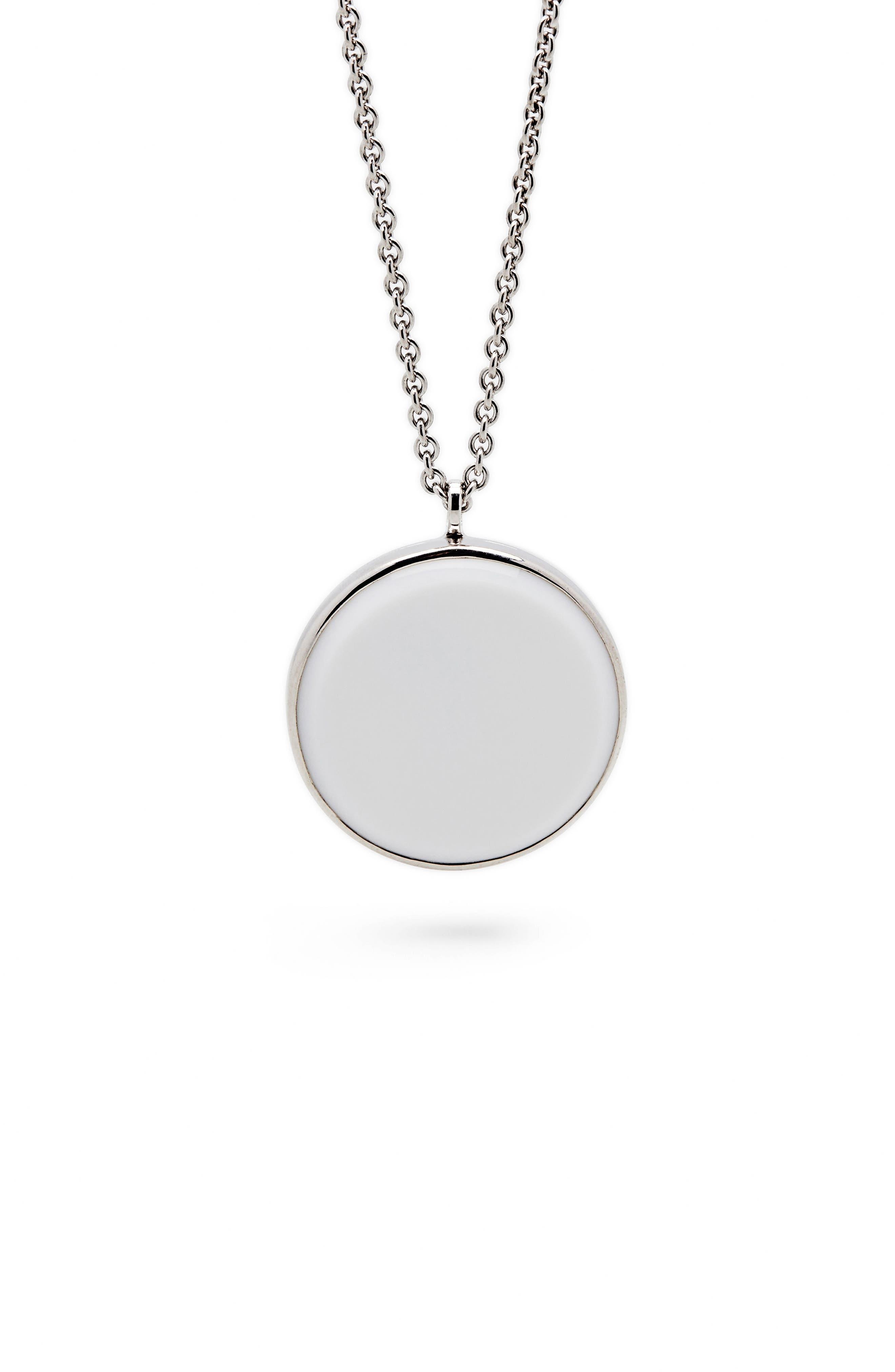 Main Image - Tom Wood White Agate Medallion Necklace