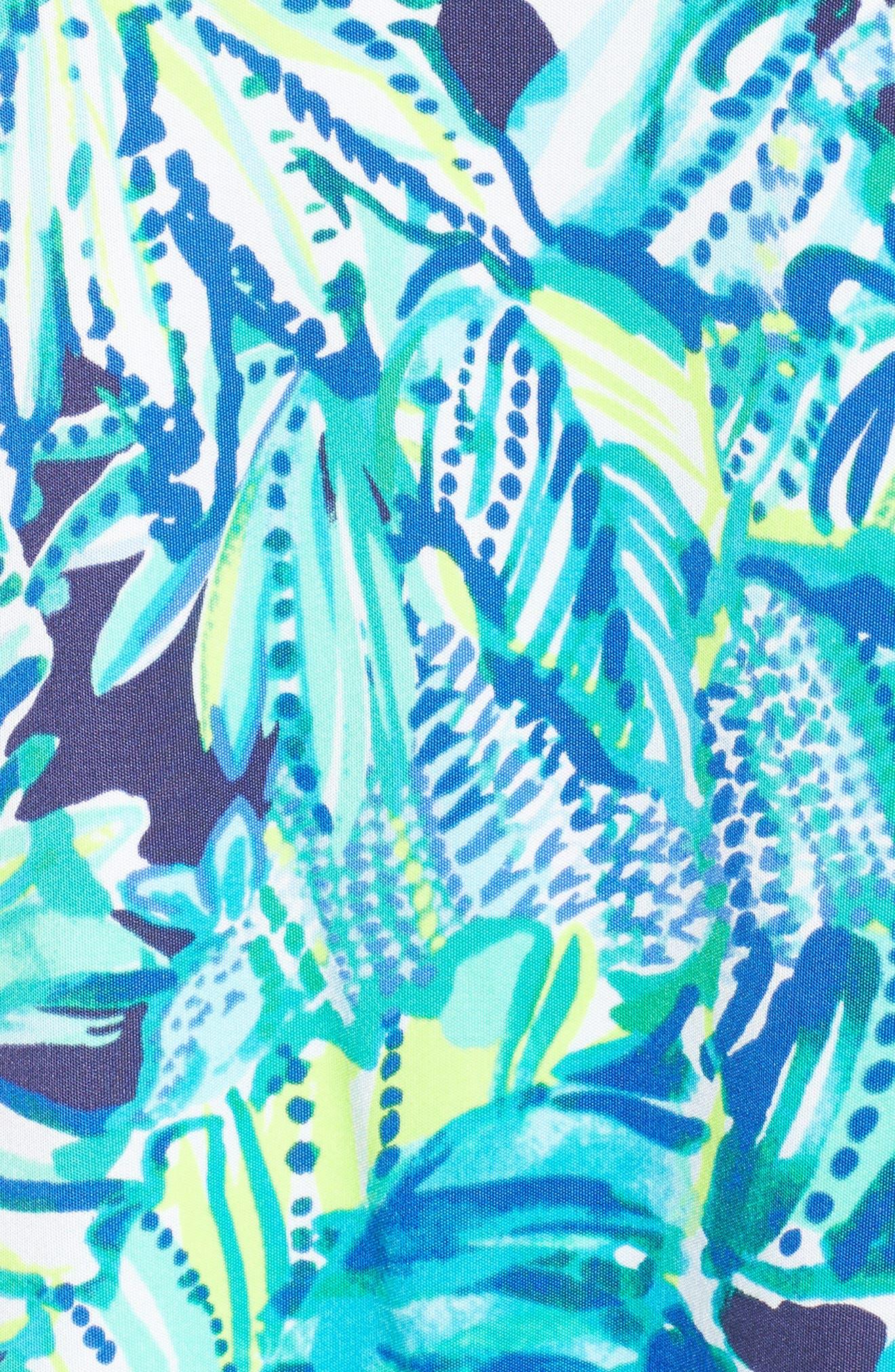 Lyza Silk Shift Dress,                             Alternate thumbnail 5, color,                             Bright Navy Dally