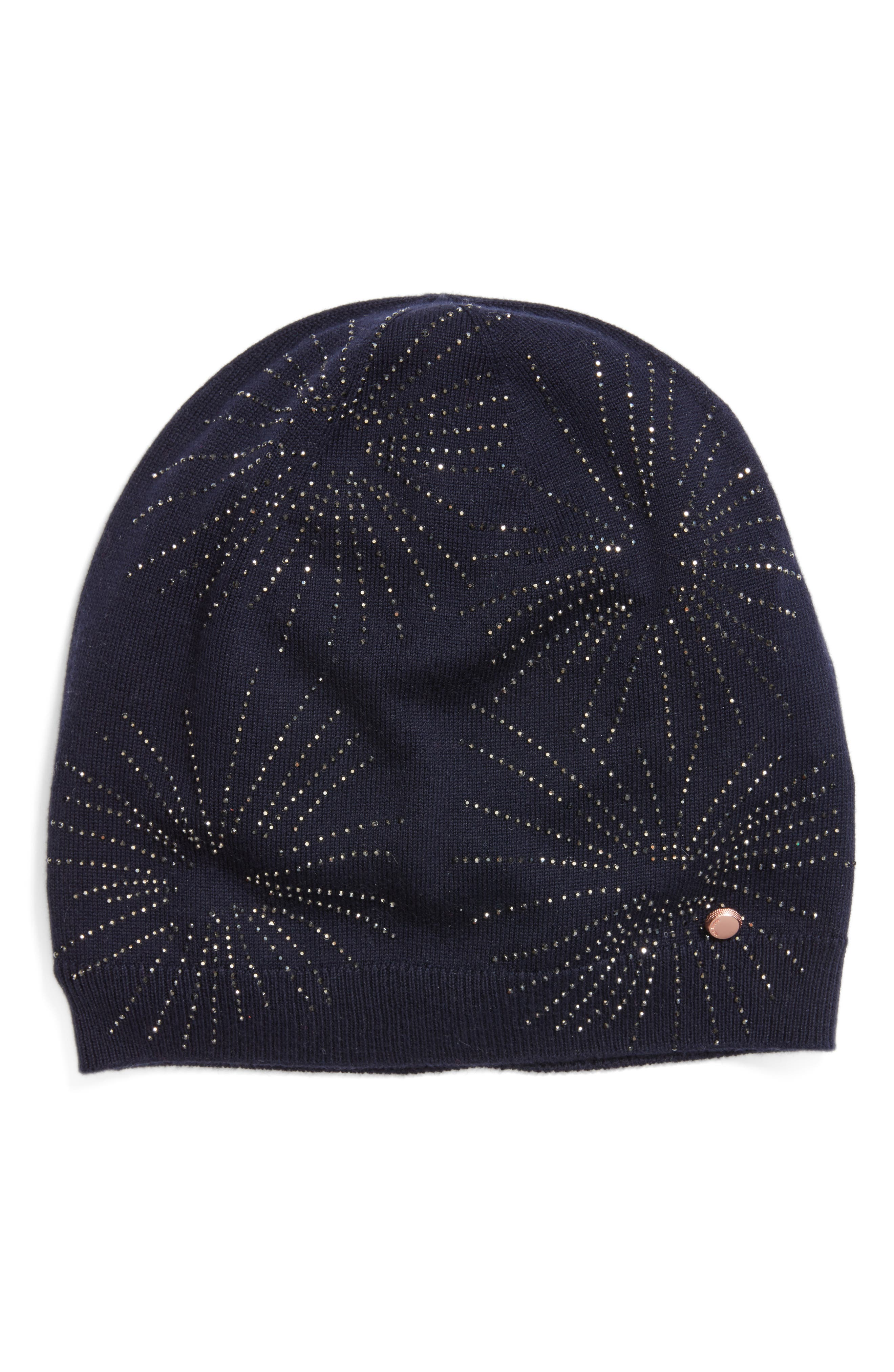 Ted Baker London Stardust Embellished Knit Beanie