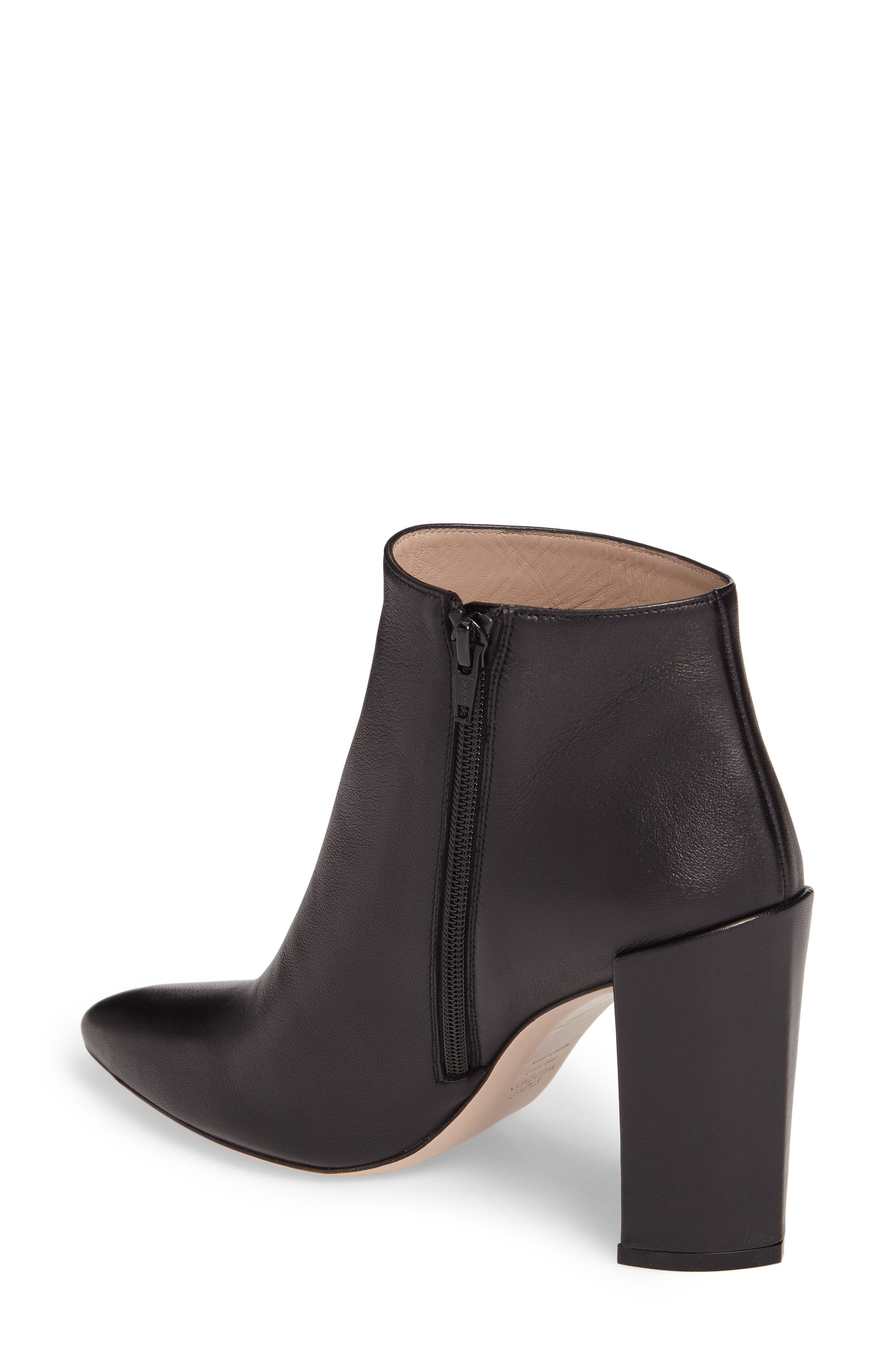 Pure Pointy Toe Bootie,                             Alternate thumbnail 2, color,                             Black Nappa