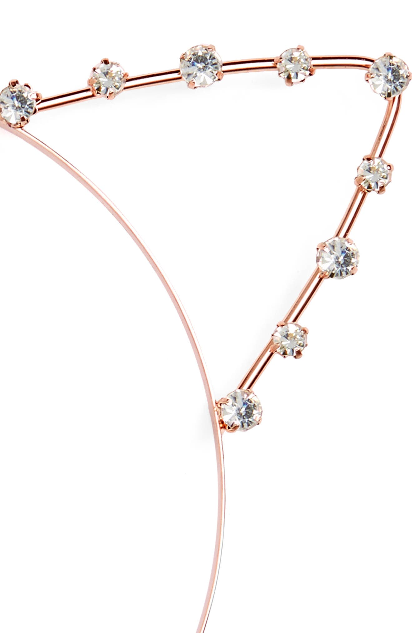 Crystal Cat Ears Headband,                             Alternate thumbnail 2, color,                             Rose Gold