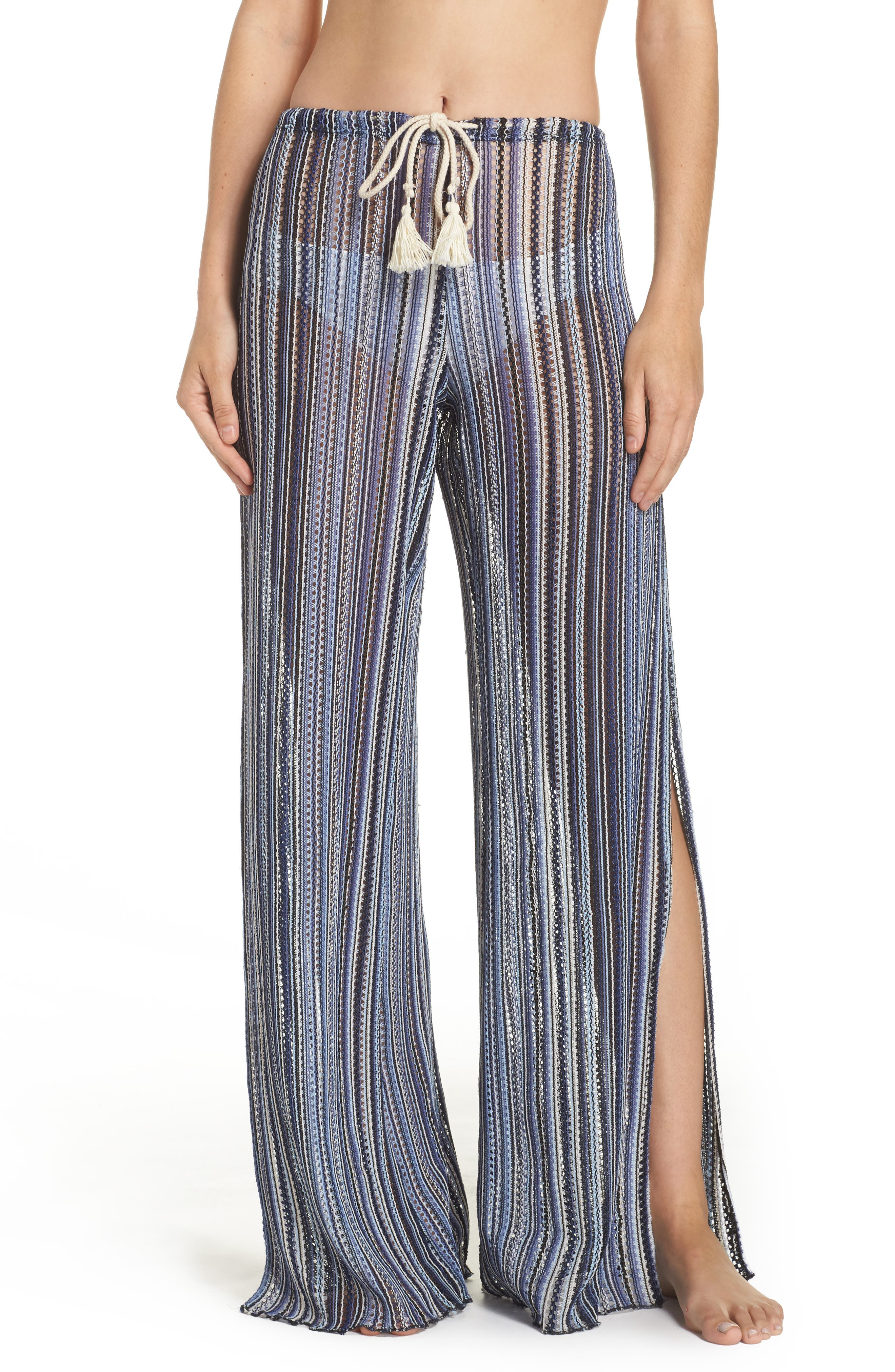 Pierside Cover-Up Flyaway Pants,                         Main,                         color, Multi