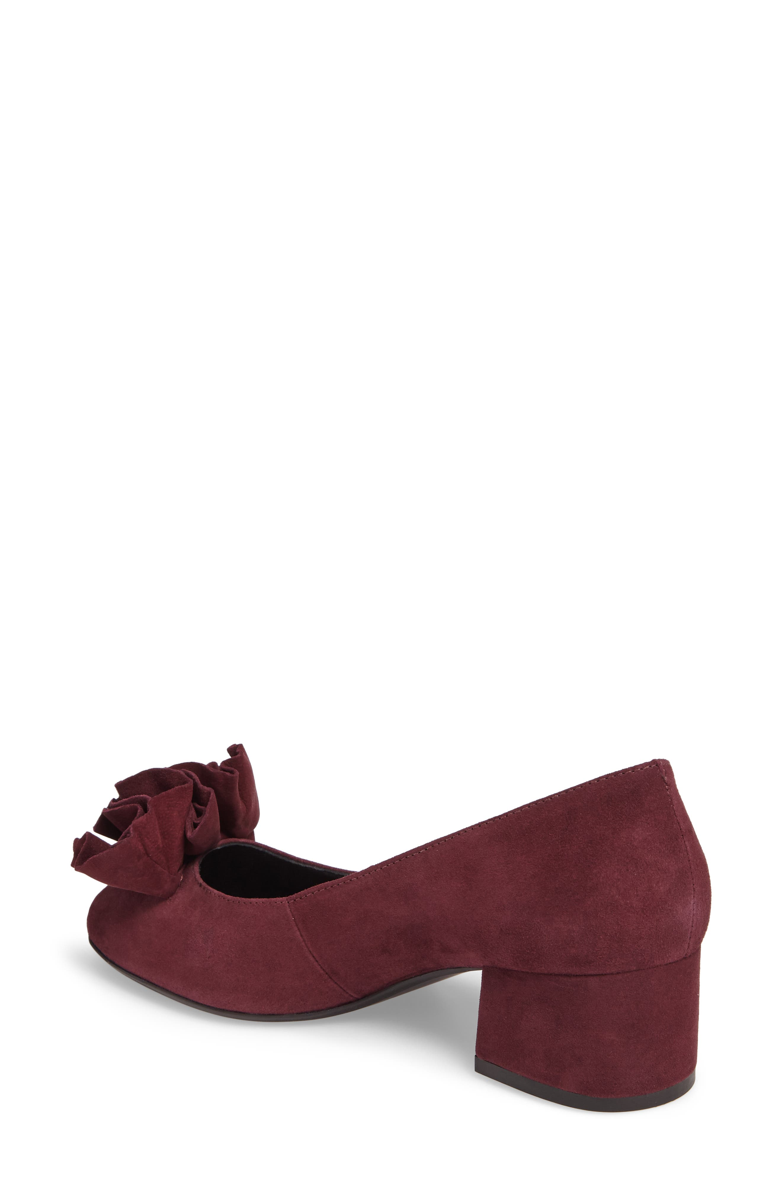 Lilly Pump,                             Alternate thumbnail 2, color,                             Chianti Suede