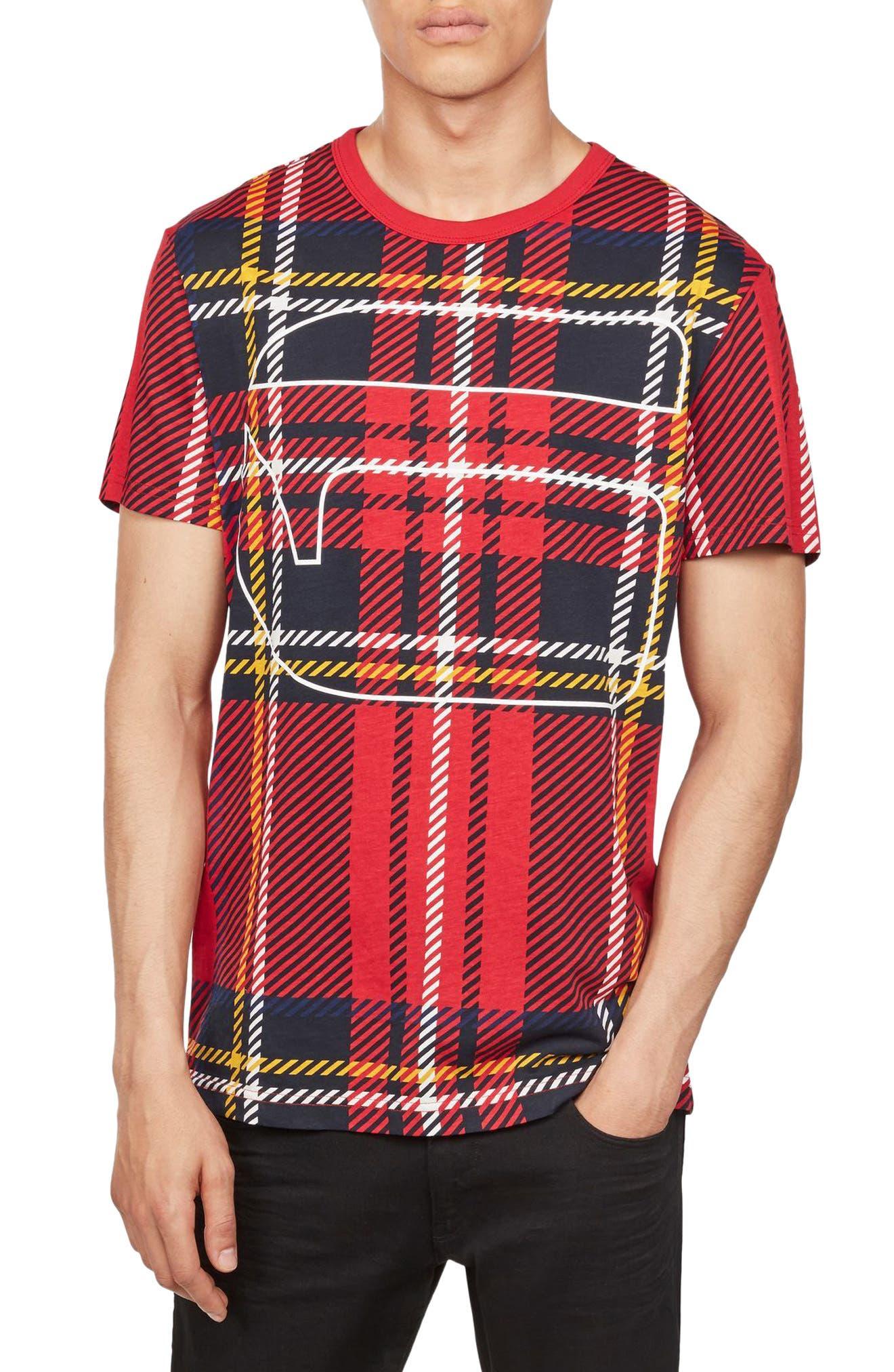 Alternate Image 1 Selected - G-Star Raw Royal Tartan Graphic T-Shirt