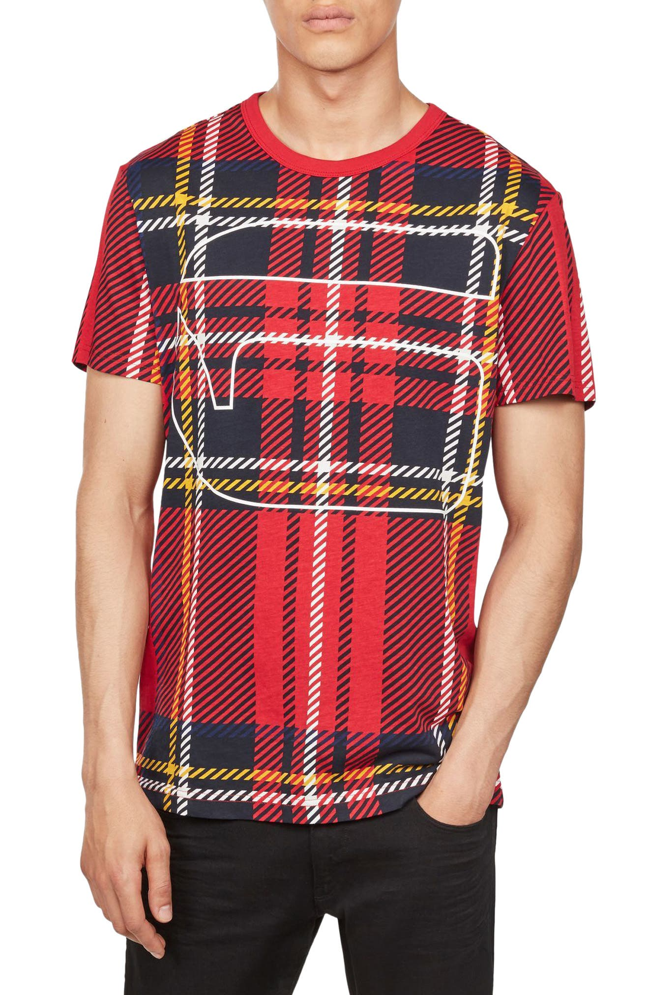 Royal Tartan Graphic T-Shirt,                         Main,                         color, White