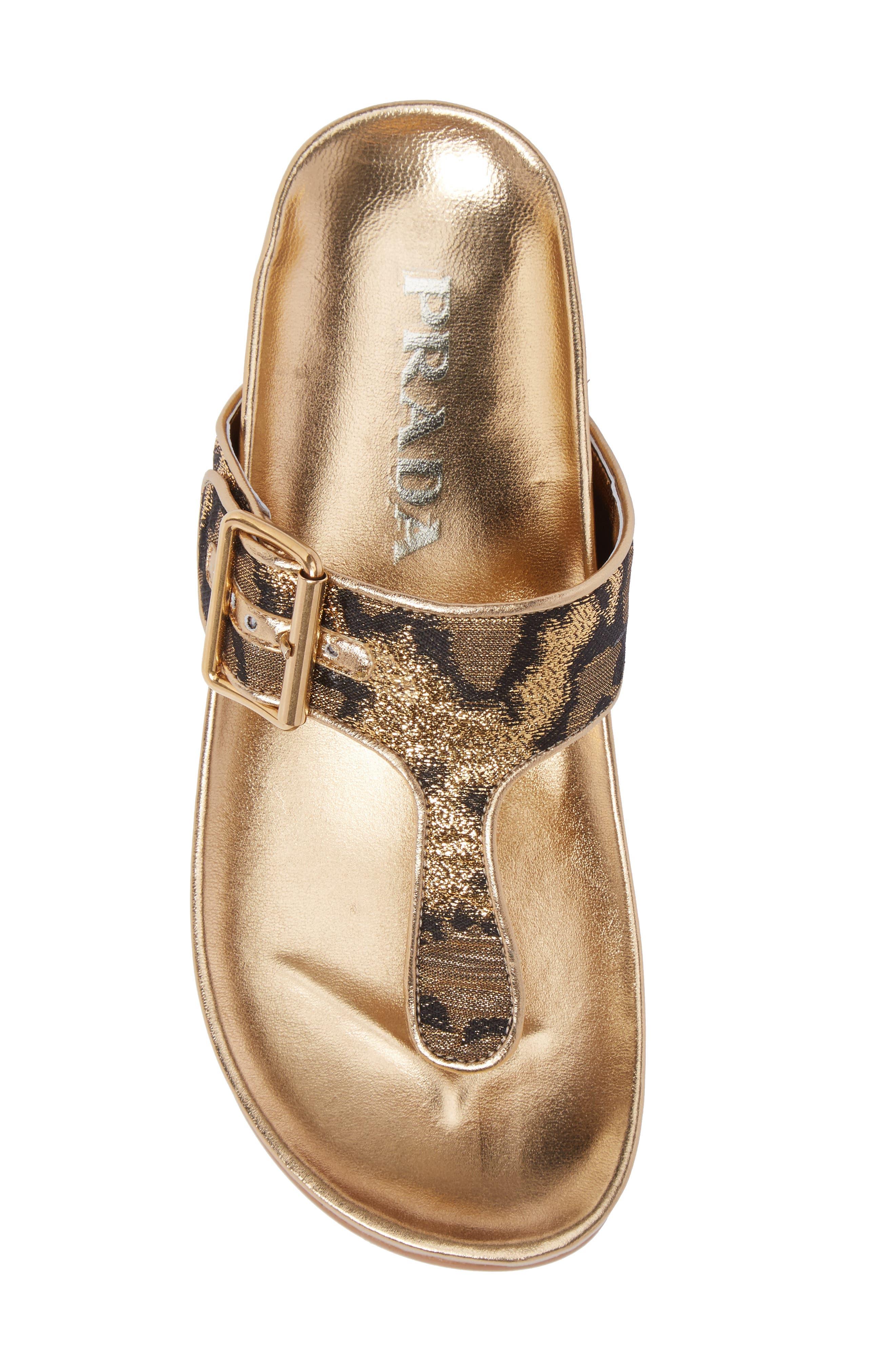 Alternate Image 4  - Prada Glitter Thong Sandal (Women)