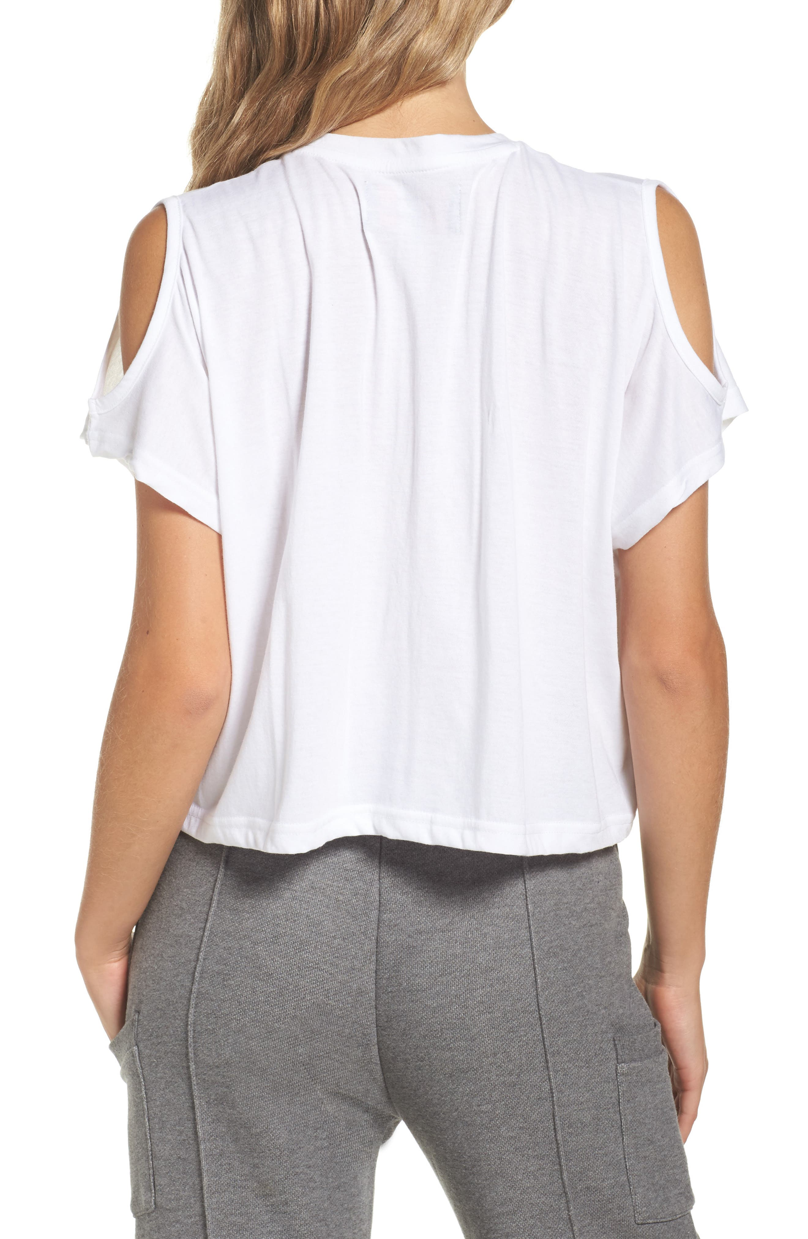 Alternate Image 2  - FILA Nikki Cold Shoulder Crop Tee