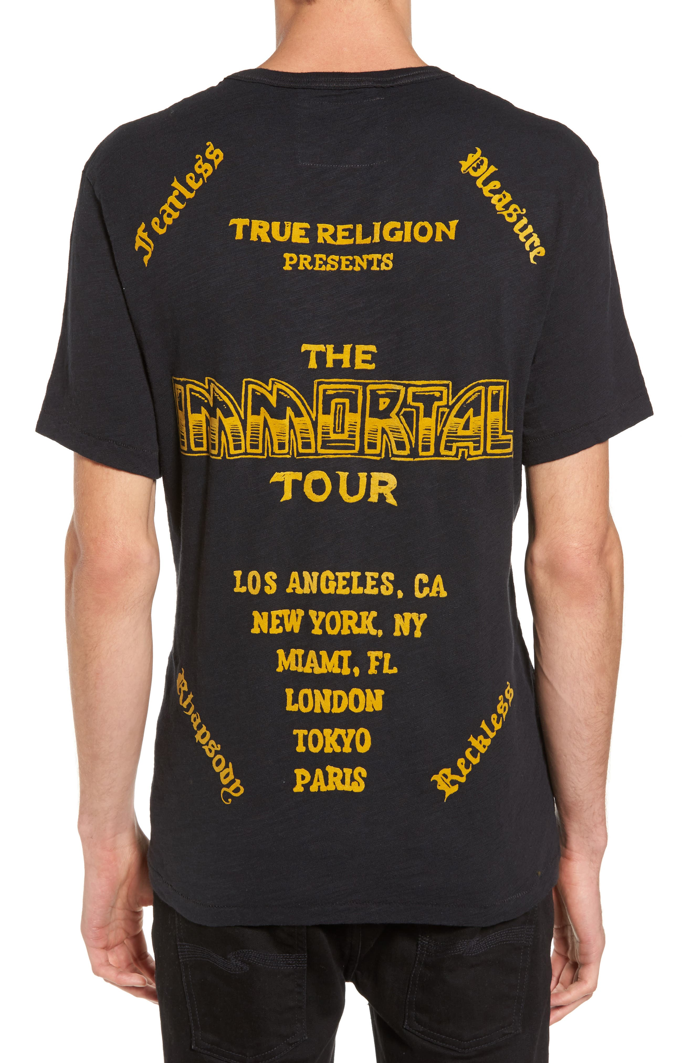 Handbill T-Shirt,                             Alternate thumbnail 2, color,                             Black