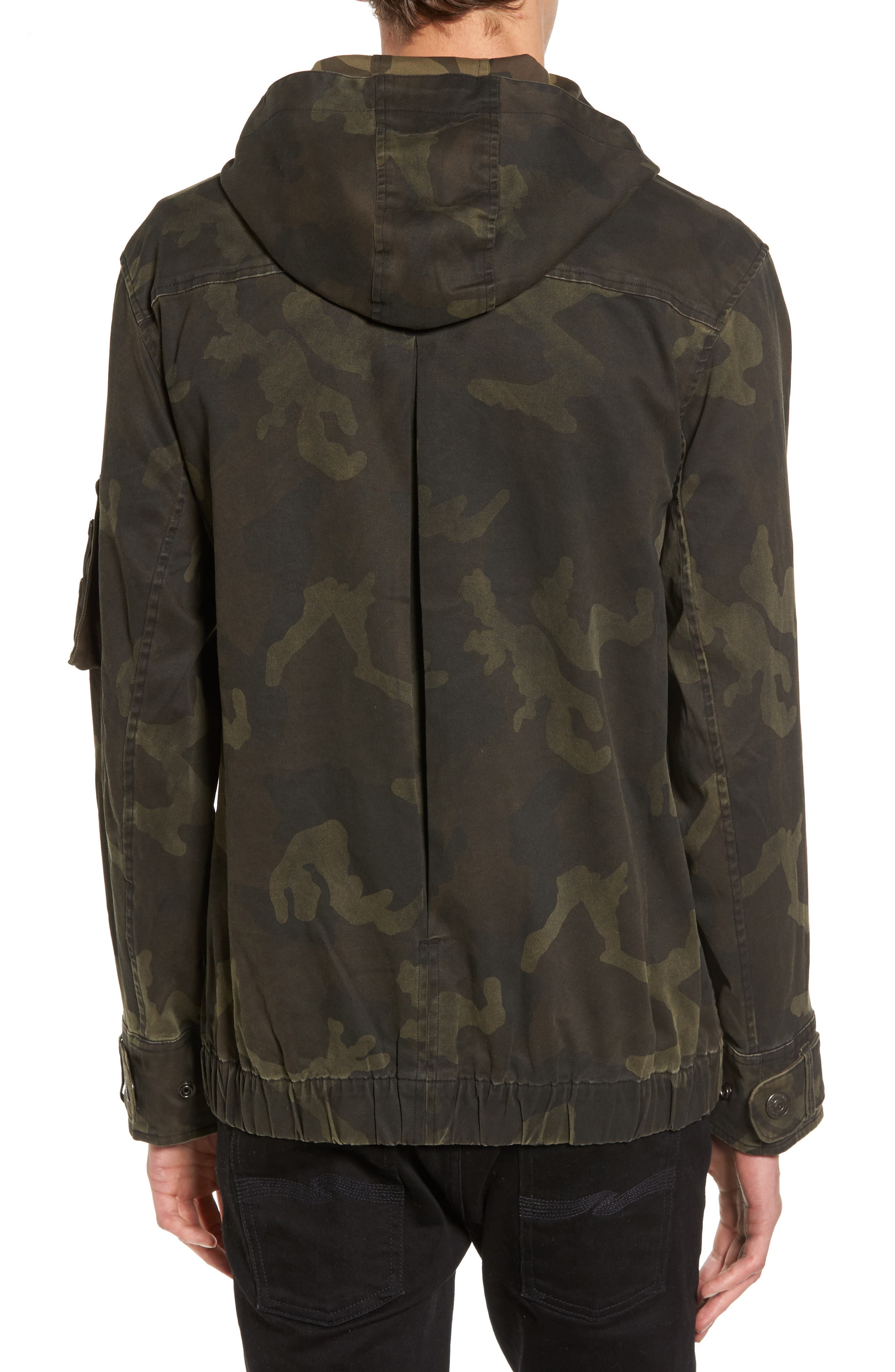 Camo Anorak,                             Alternate thumbnail 2, color,                             Military Green Camo