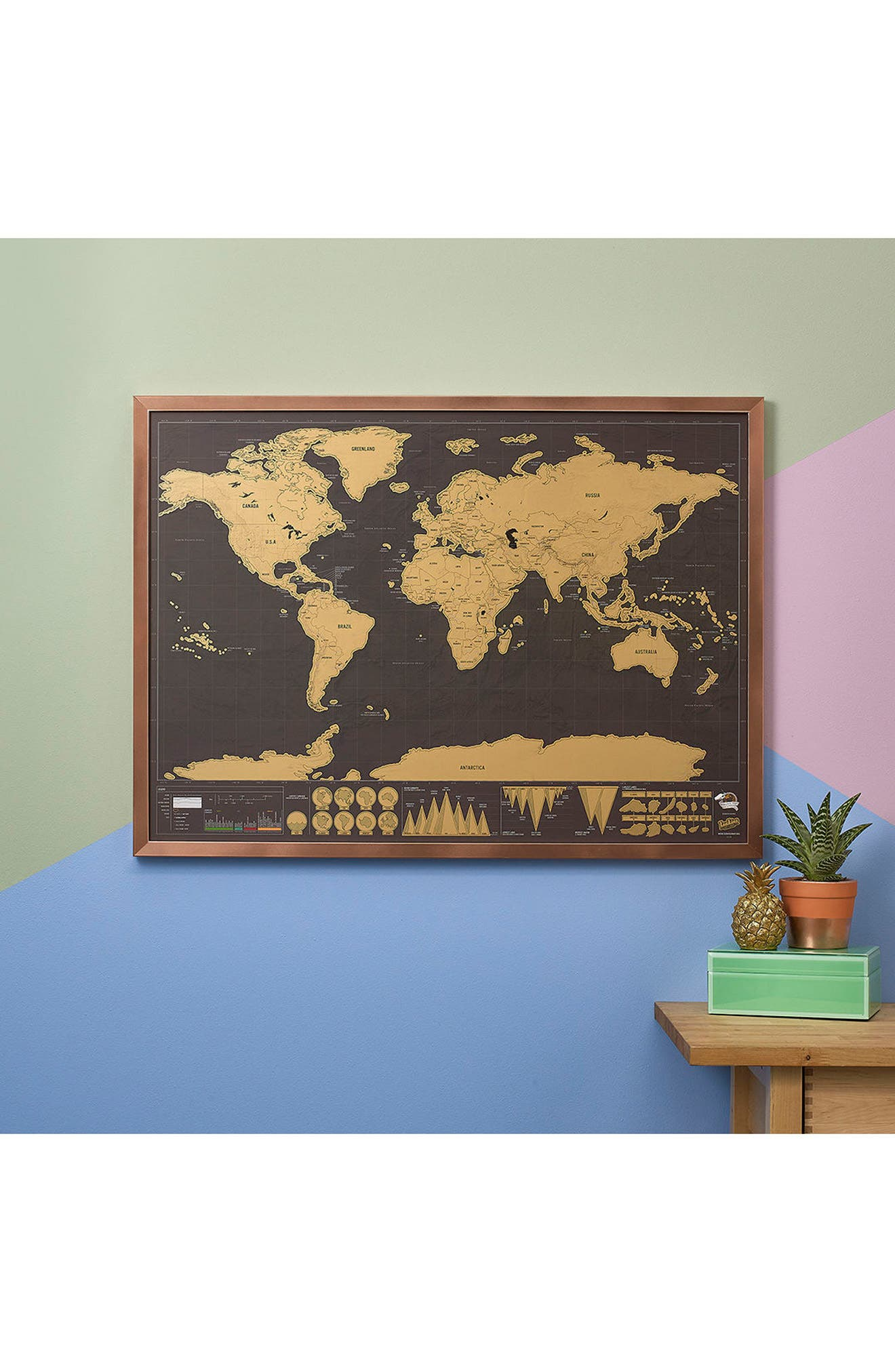 Deluxe Edition Scratch Map<sup>®</sup>,                             Alternate thumbnail 3, color,                             Metallic Gold