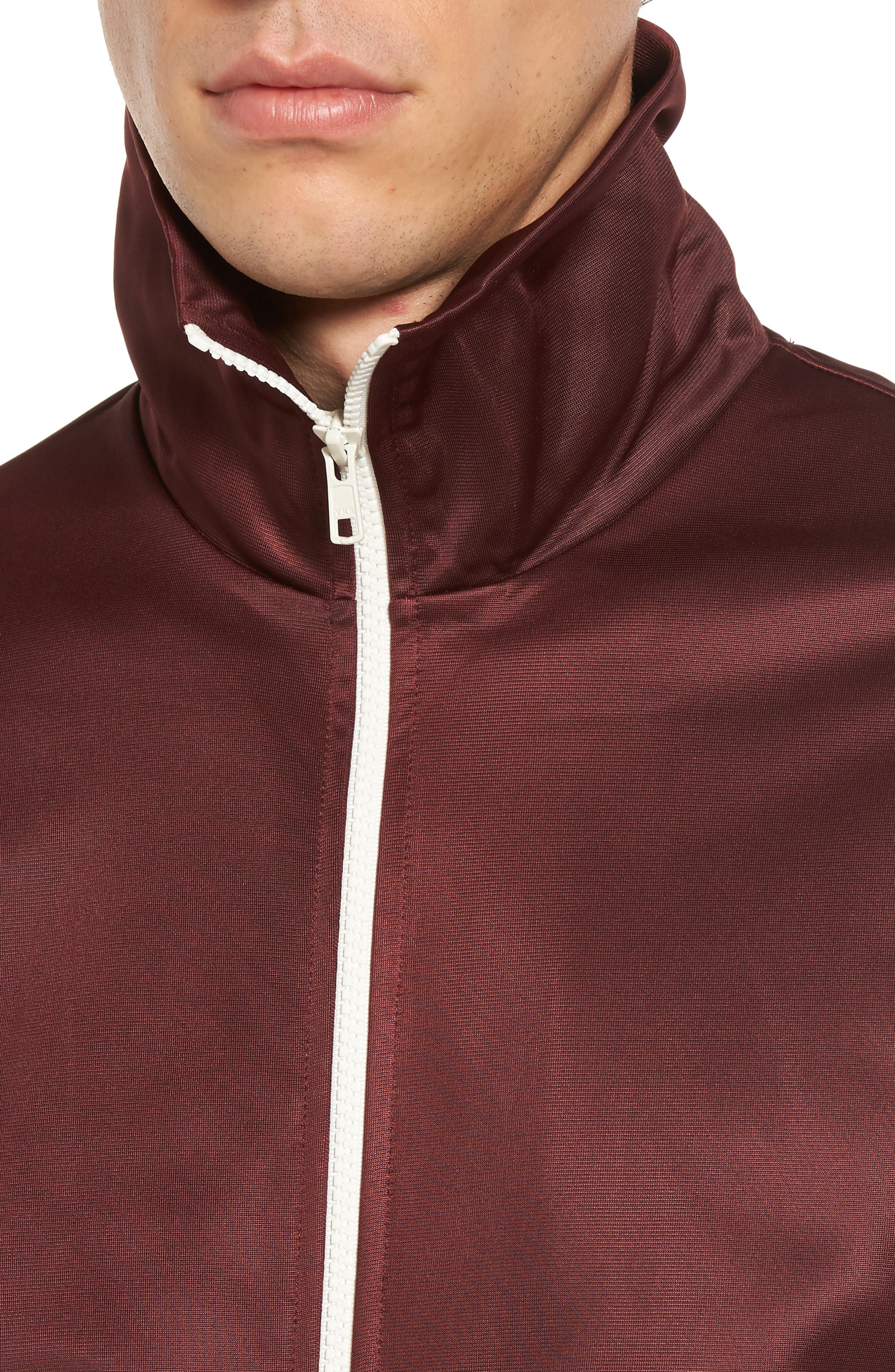 Marcus Track Jacket,                             Alternate thumbnail 4, color,                             Red Port