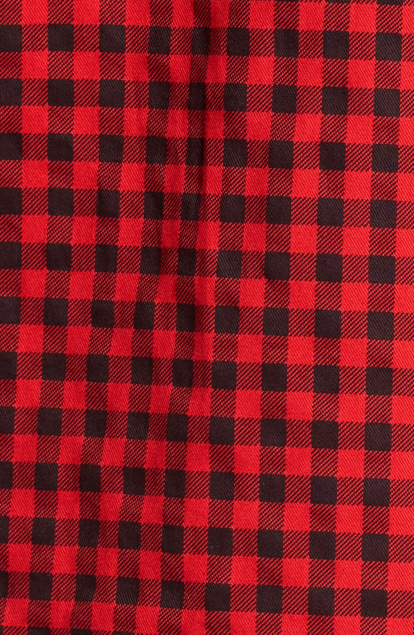Lance Regular Fit Gingham Check Twill Sport Shirt,                             Alternate thumbnail 5, color,                             Red
