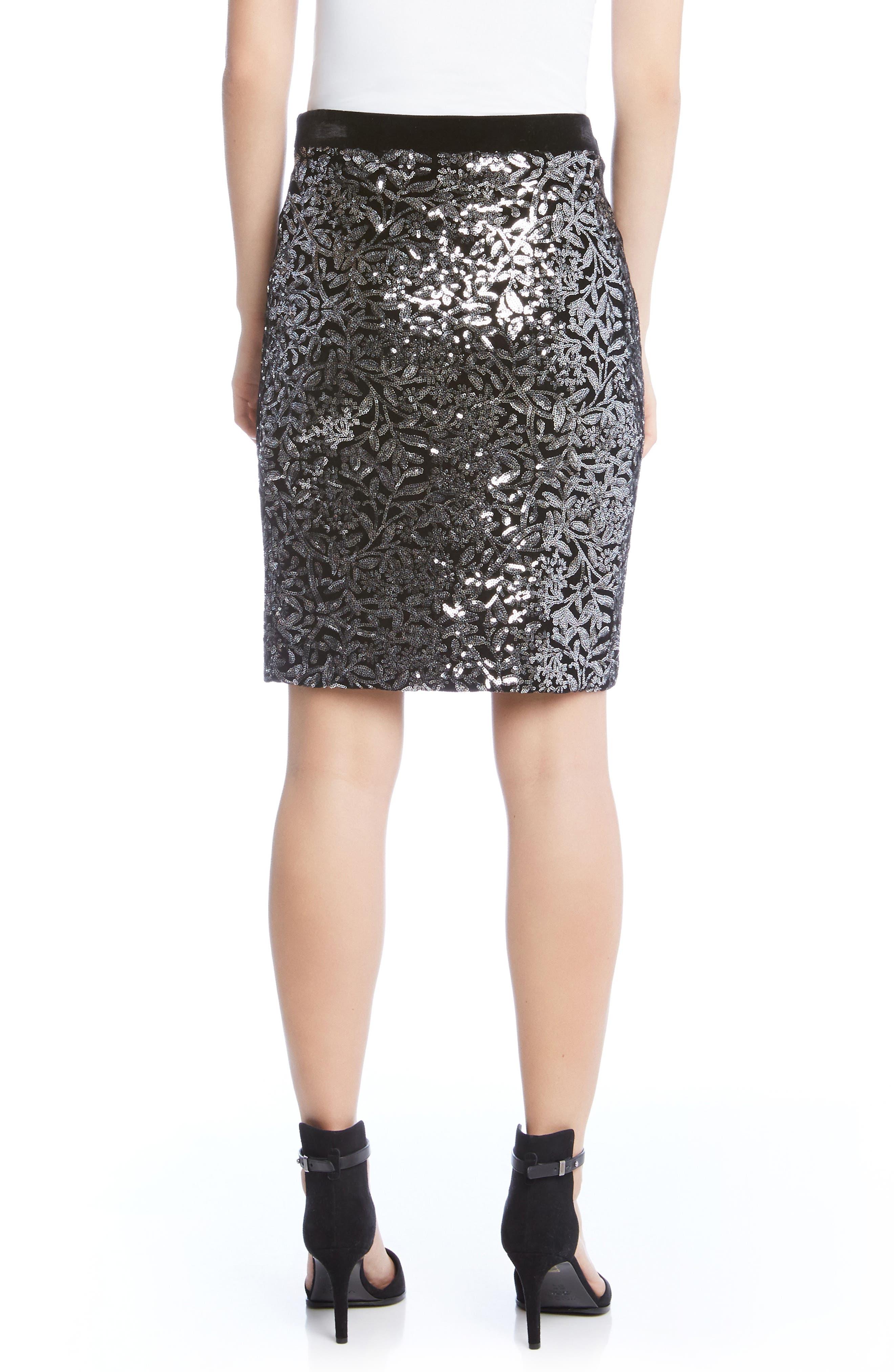 Alternate Image 2  - Karen Kane Sequin Skirt