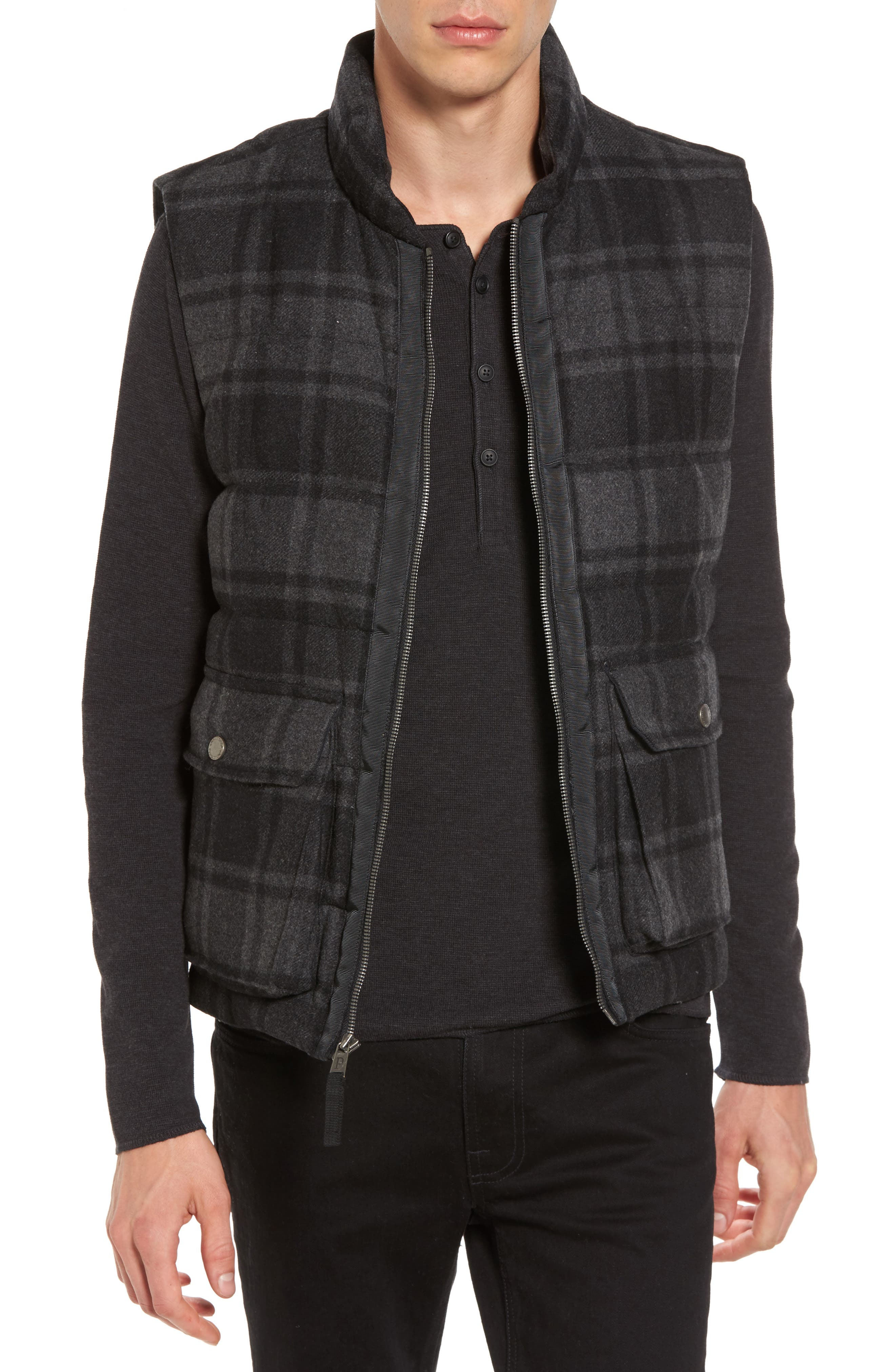 Yosemite Jacket,                         Main,                         color, Black/ Charcoal Plaid