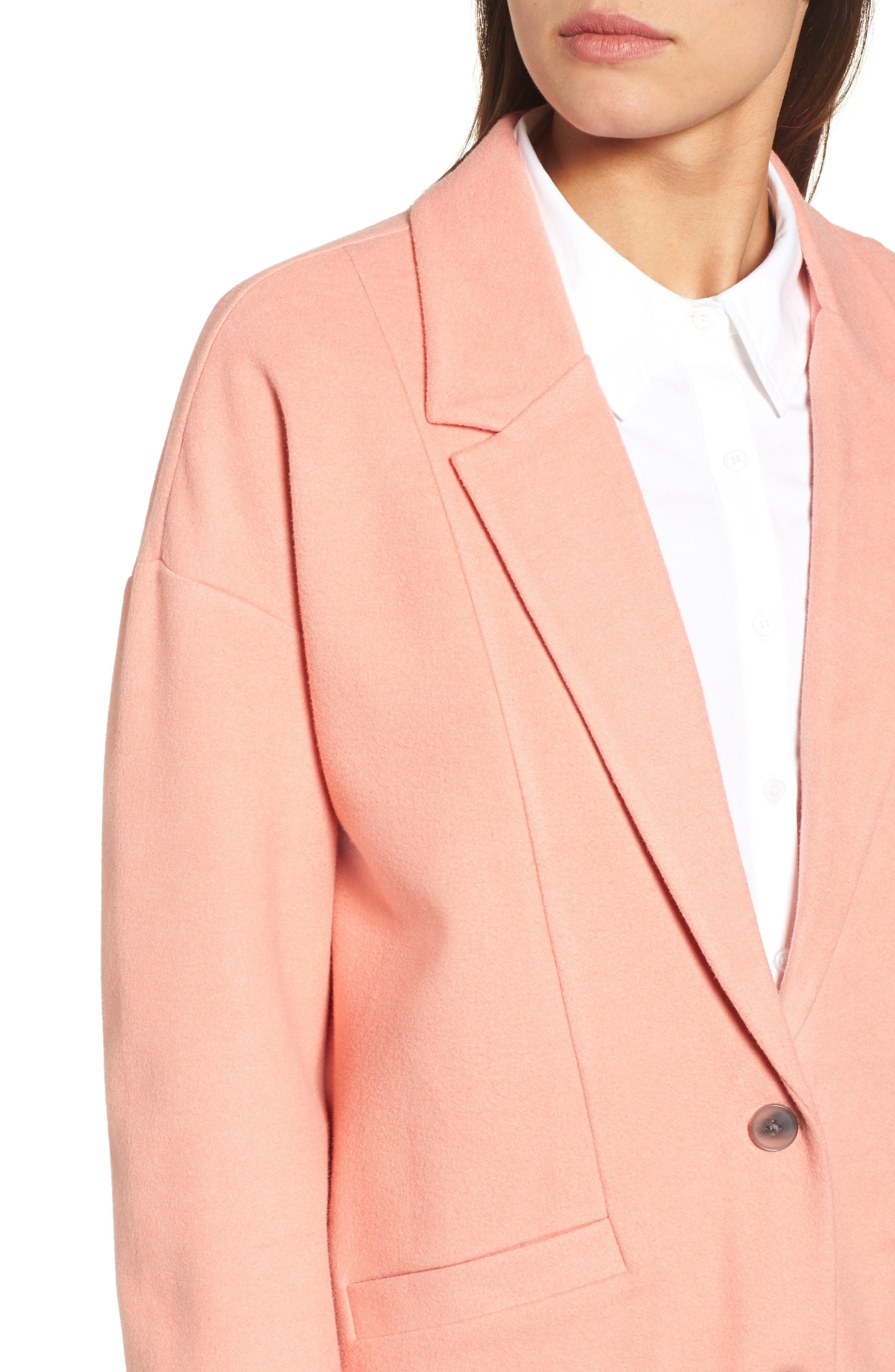 Two-Button Jacket,                             Alternate thumbnail 4, color,                             Coral Terra